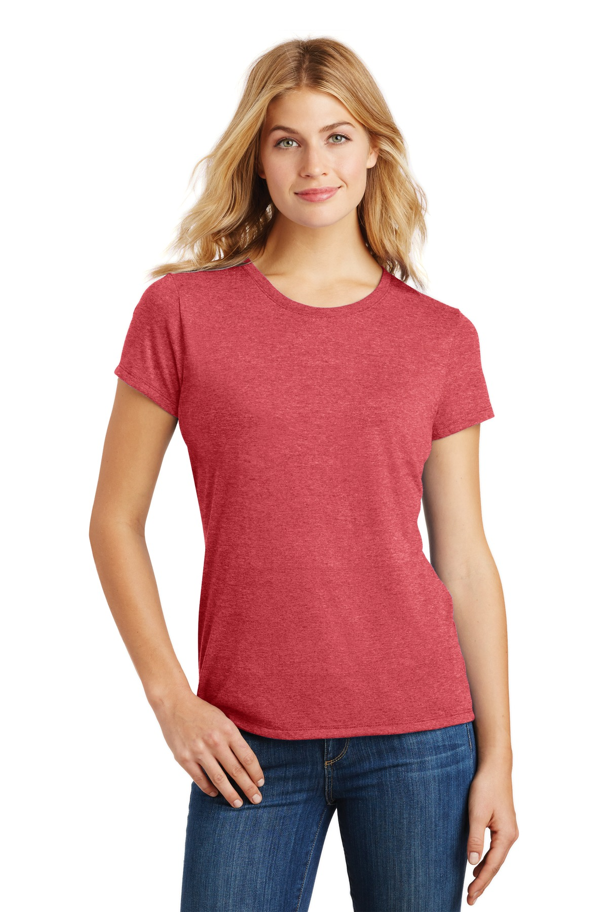 District  ®  Women's Perfect Tri ®  Tee. DM130L - Red Frost