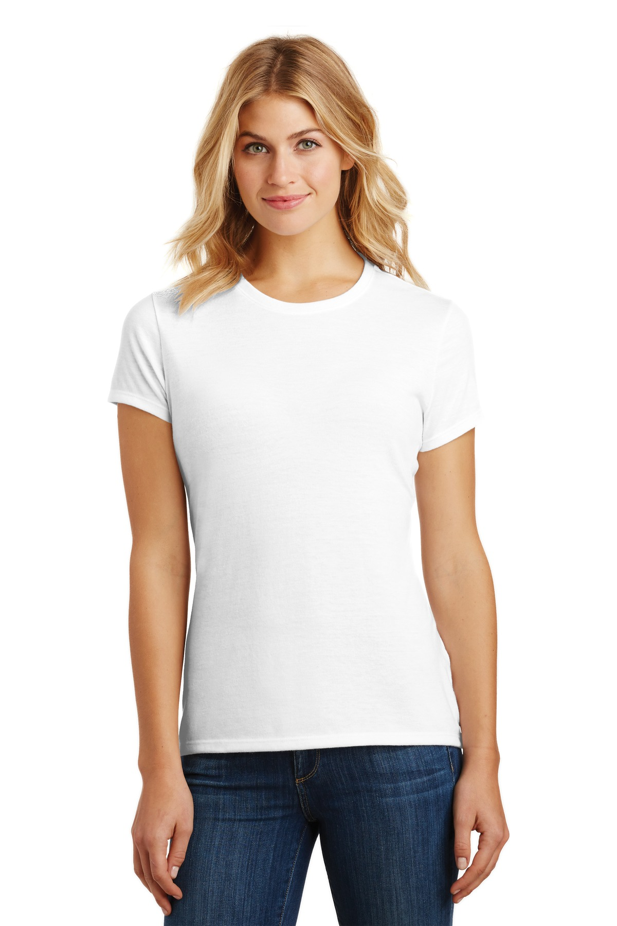 District  ®  Women's Perfect Tri ®  Tee. DM130L - White