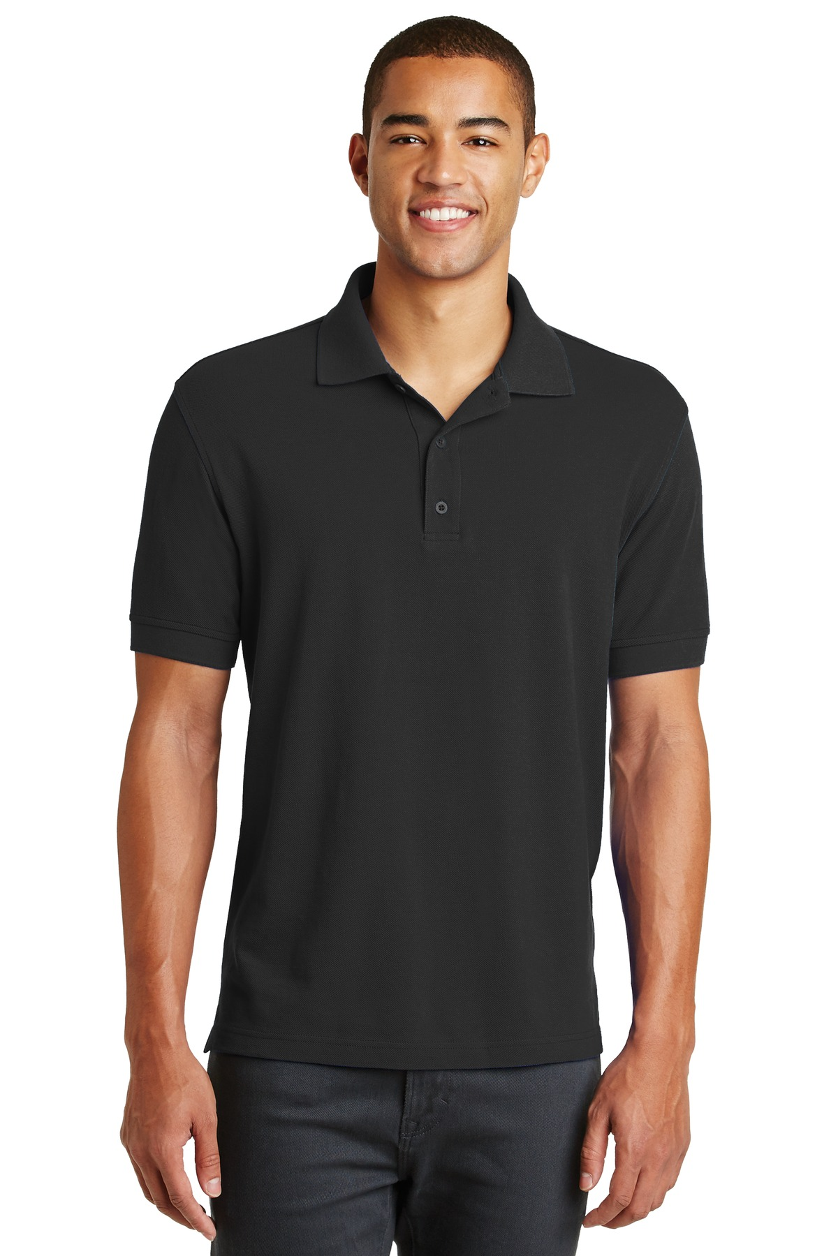 Eddie Bauer ®  Cotton Pique Polo. EB100 - Black