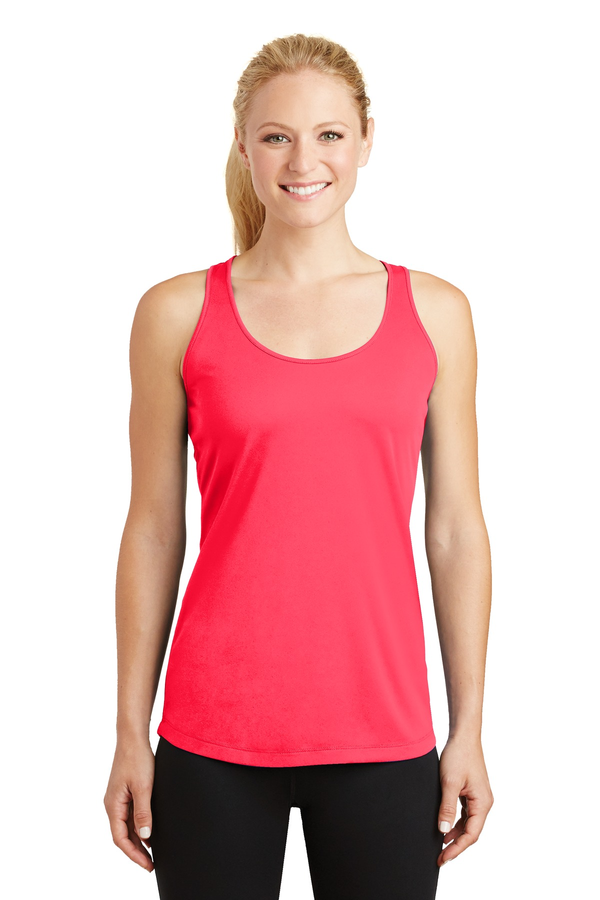 Sport-Tek ®  Ladies PosiCharge ®  Competitor ™  Racerback Tank. LST356 - Hot Coral