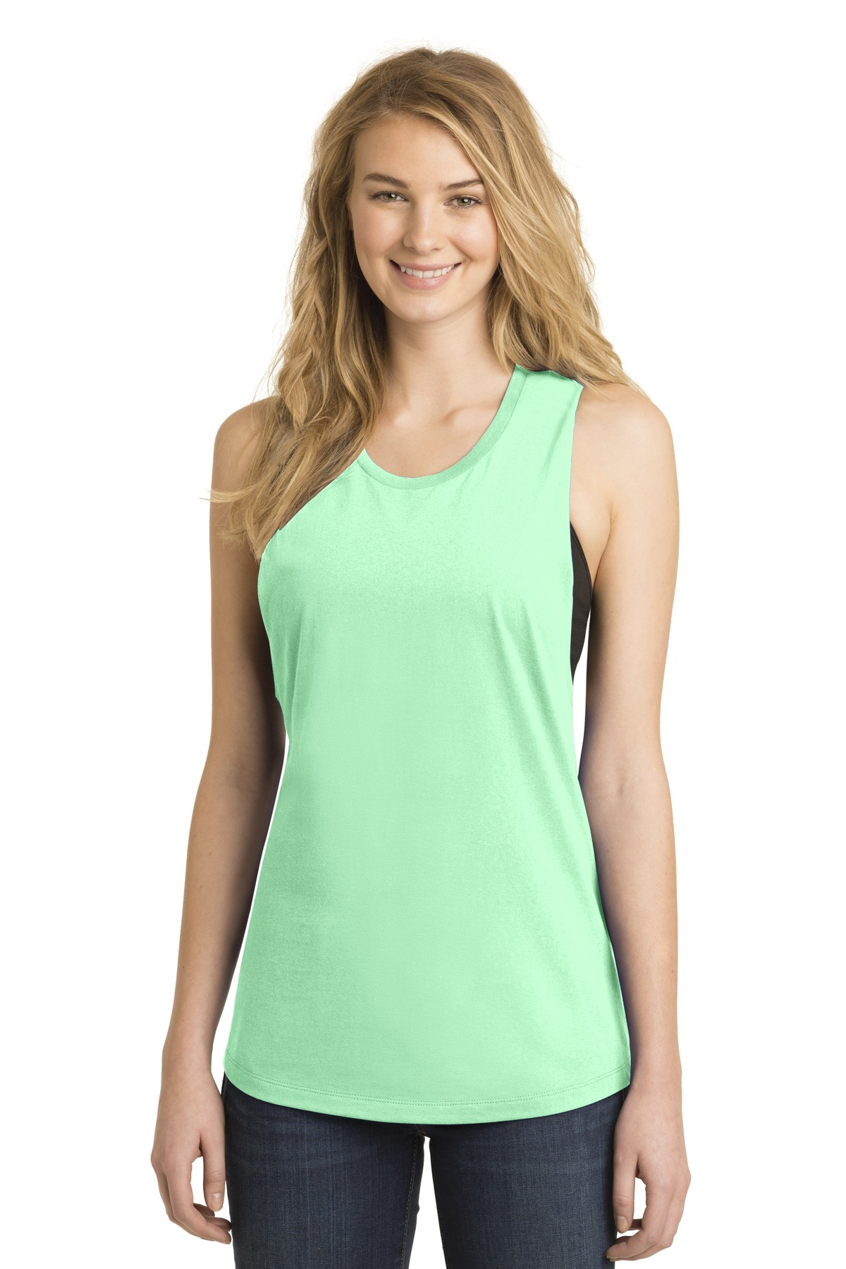 District Women''s Fitted V.I.T. Festival Tank. DT6301