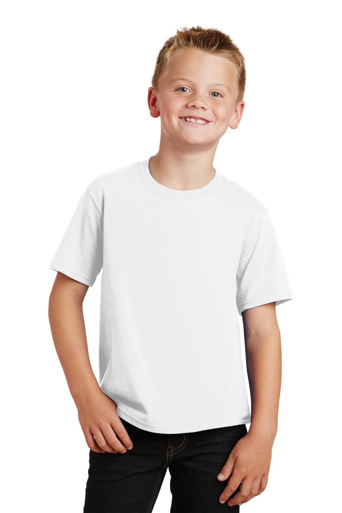 Port & Company ®  Youth Fan Favorite Tee. PC450Y - White