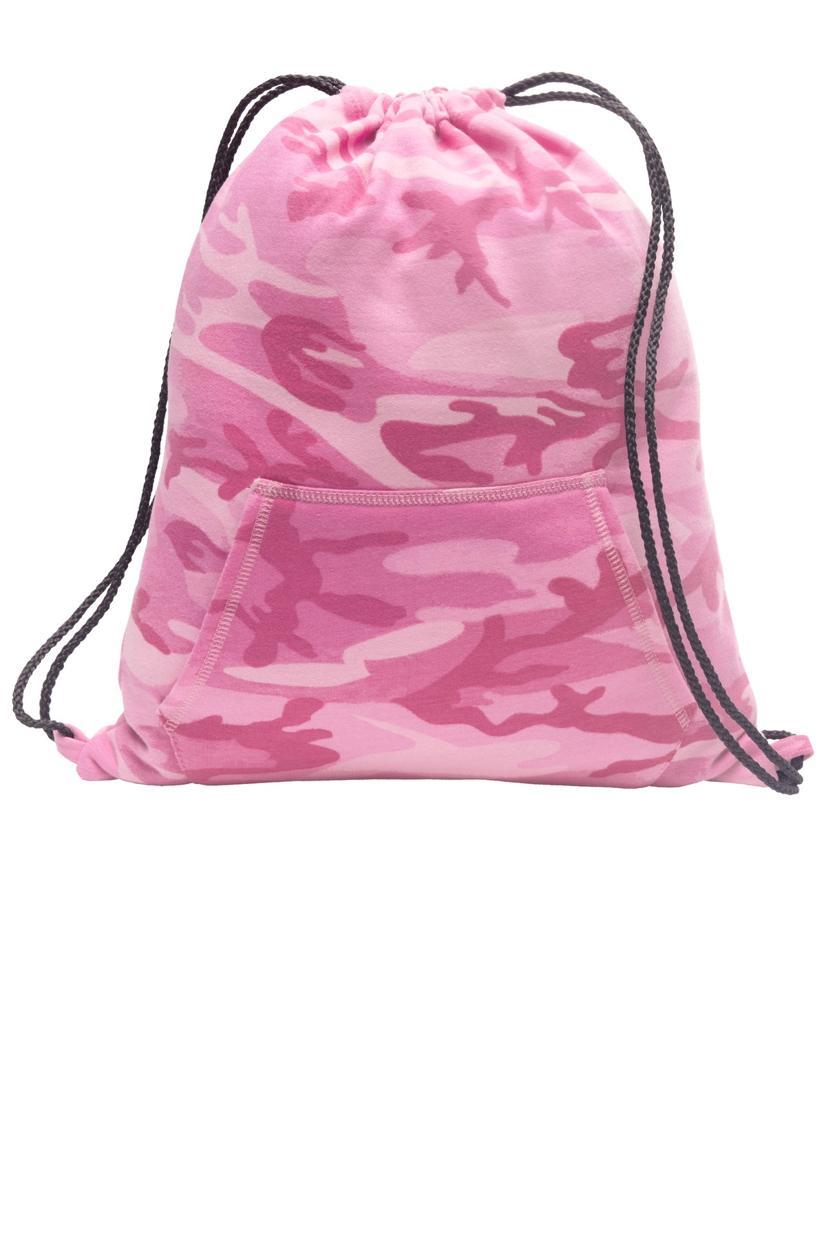 Port & Company ®  Core Fleece Sweatshirt Cinch Pack. BG614 - Pink Camo