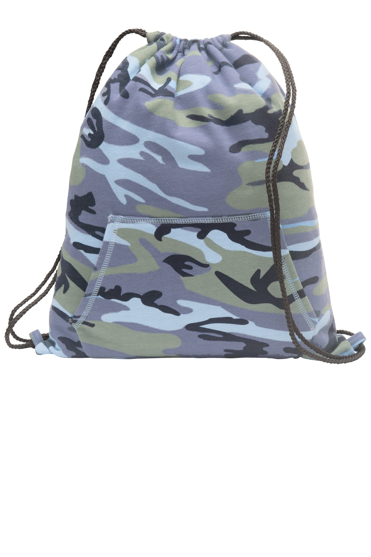 Port & Company ®  Core Fleece Sweatshirt Cinch Pack. BG614 - Woodland Blue Camo