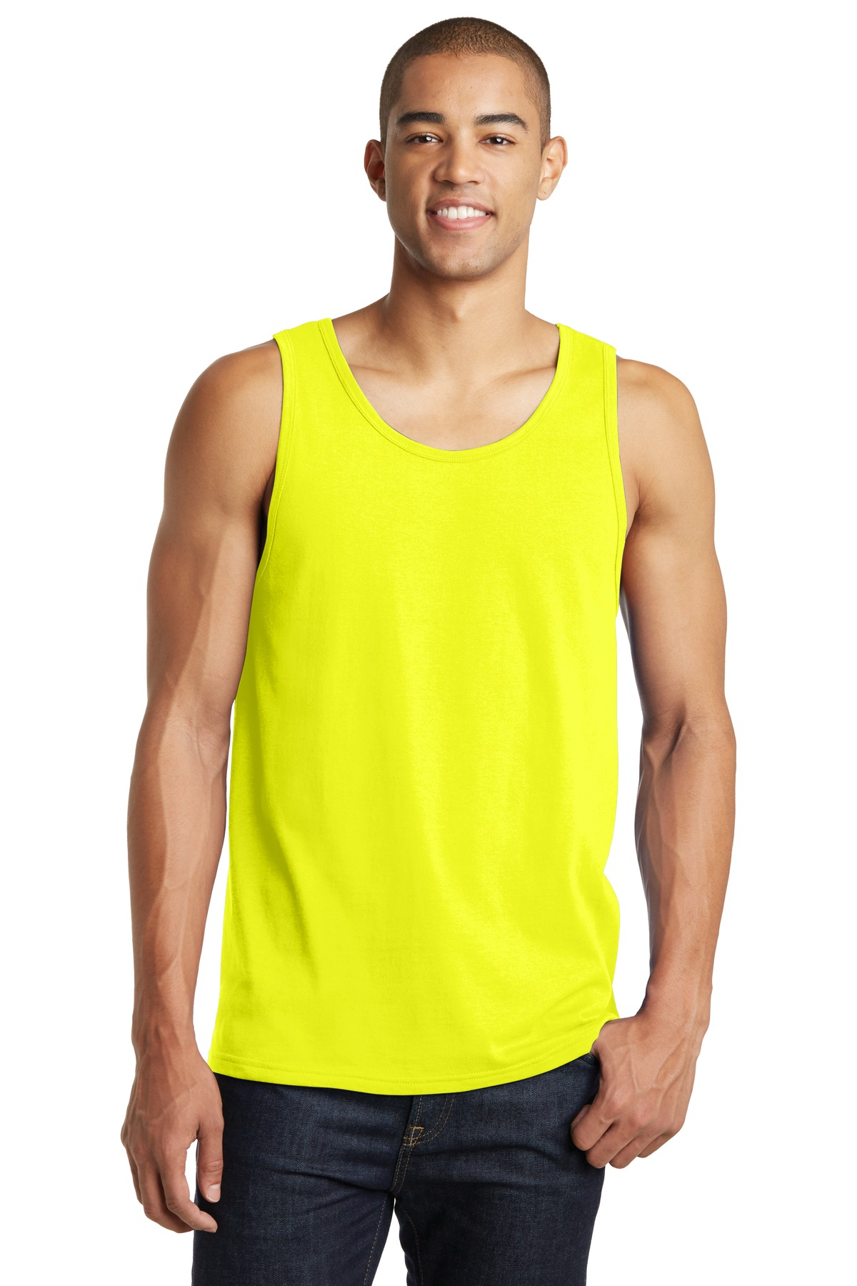 District ®  The Concert Tank ® . DT5300 - Neon Yellow