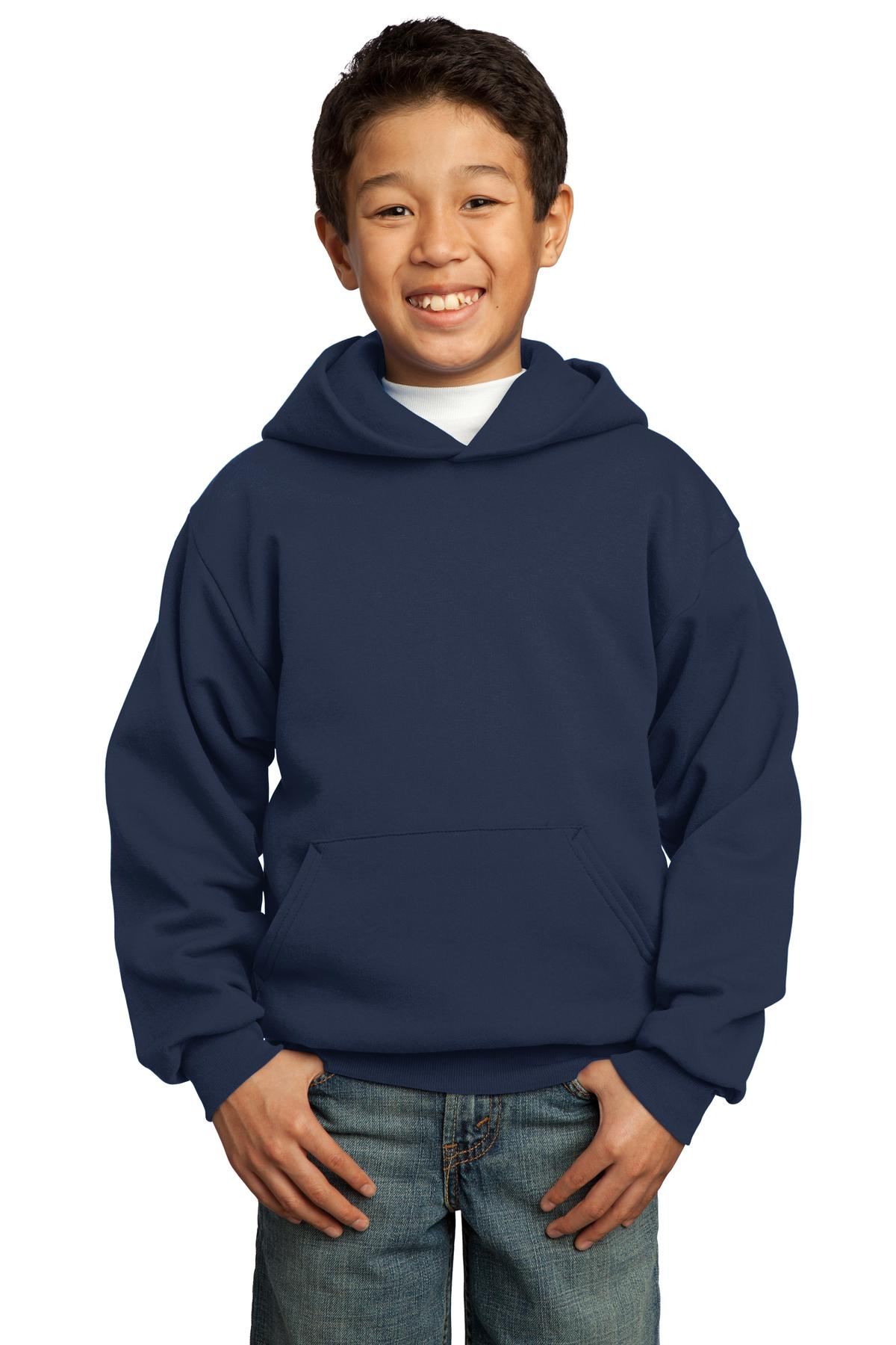 Port & Company ®  - Youth Core Fleece Pullover Hooded Sweatshirt.  PC90YH - Navy
