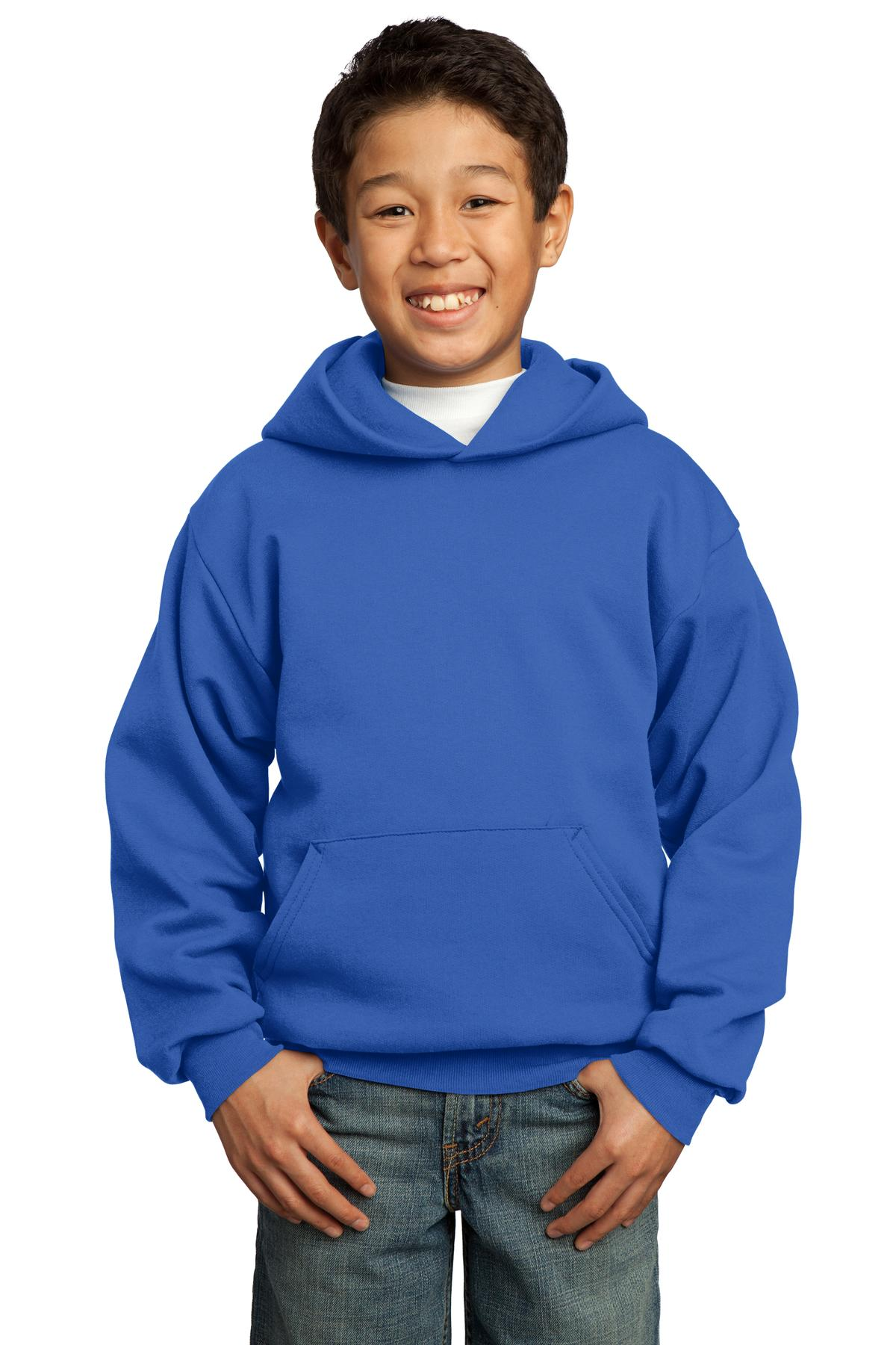 Port & Company ®  - Youth Core Fleece Pullover Hooded Sweatshirt.  PC90YH - Royal