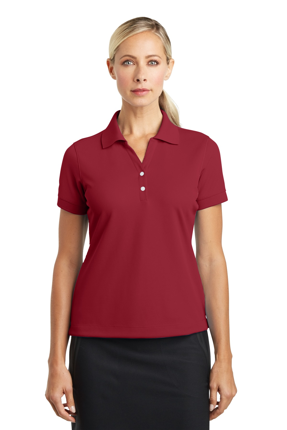 Nike Ladies Dri-FIT Classic Polo.  286772 - Varsity Red