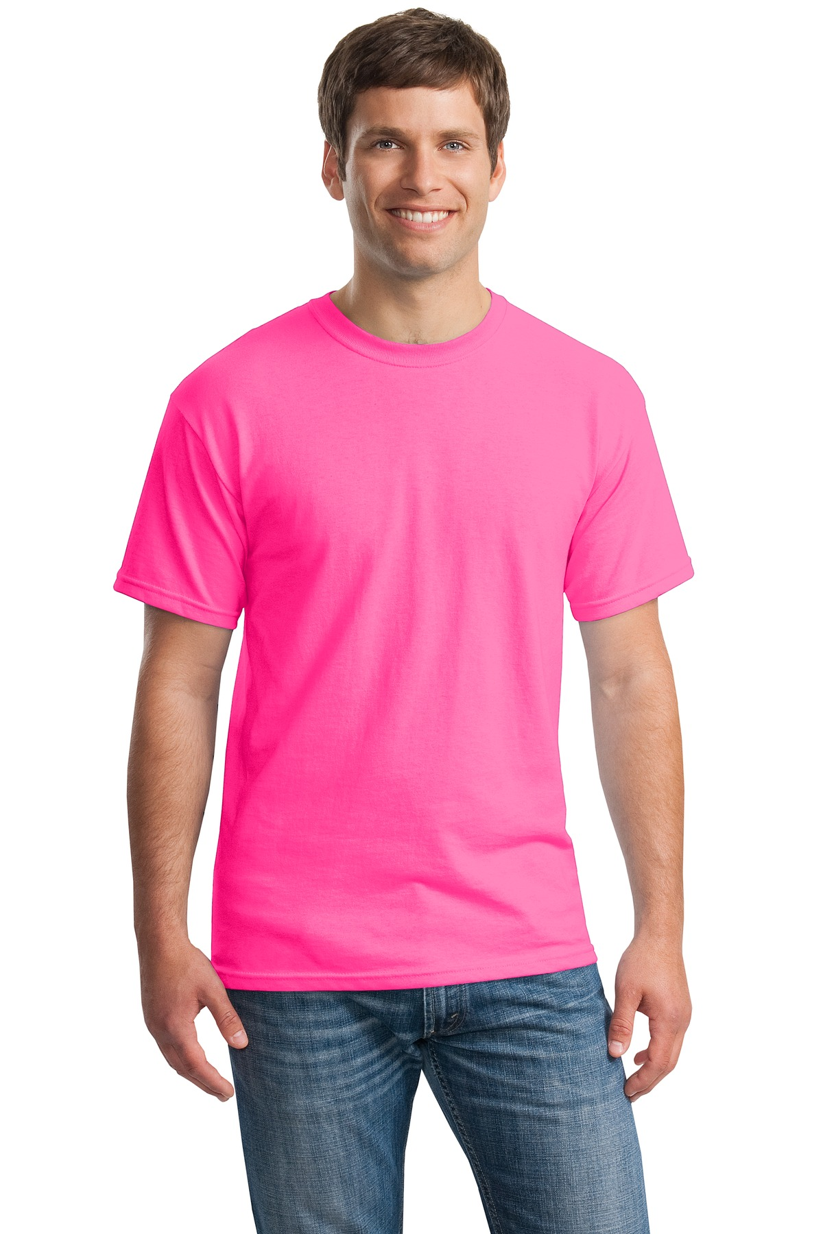 Gildan ®  - Heavy Cotton ™  100% Cotton T-Shirt.  5000 - Safety Pink
