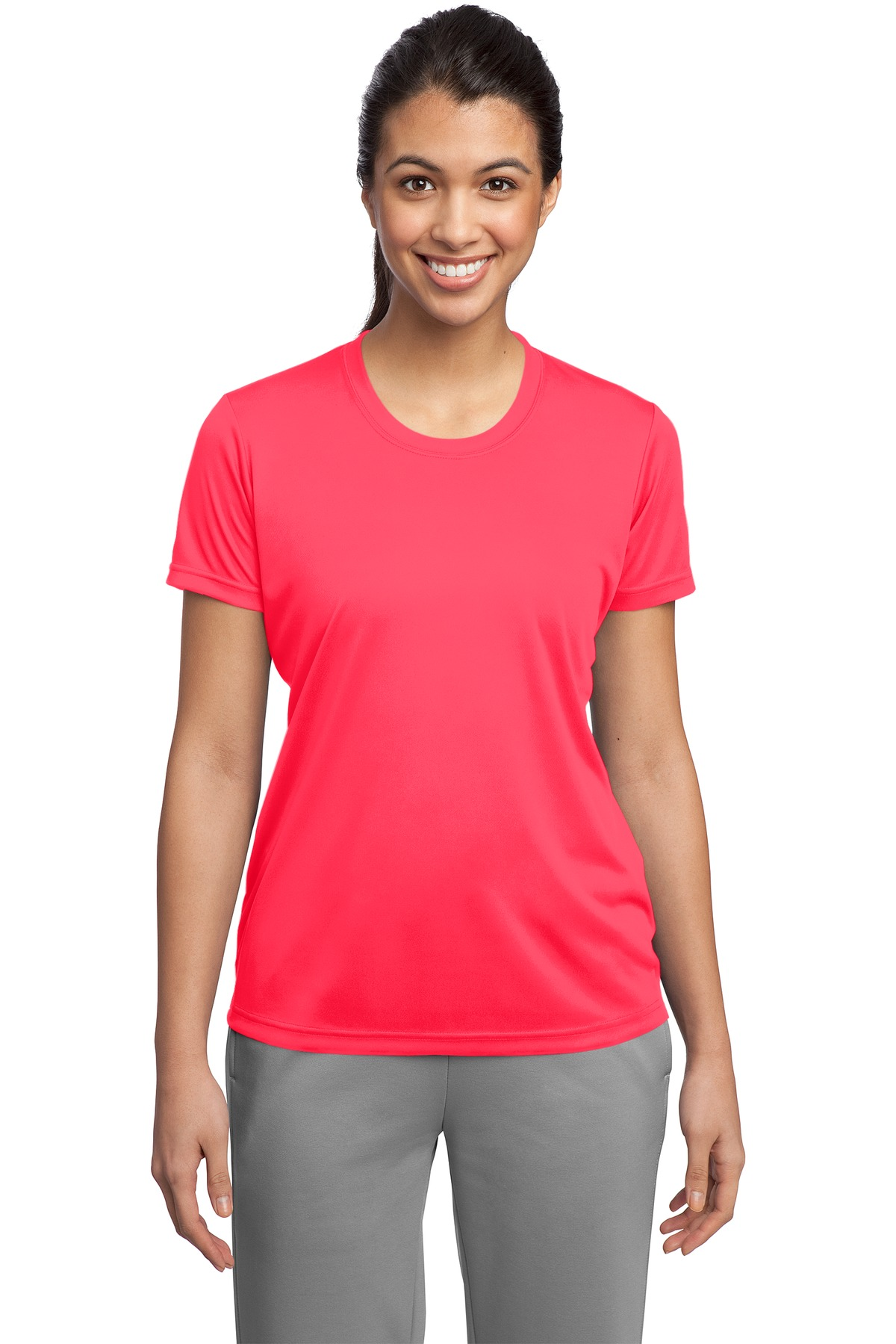 Sport-Tek ®  Ladies PosiCharge ®  Competitor™ Tee. LST350 - Hot Coral
