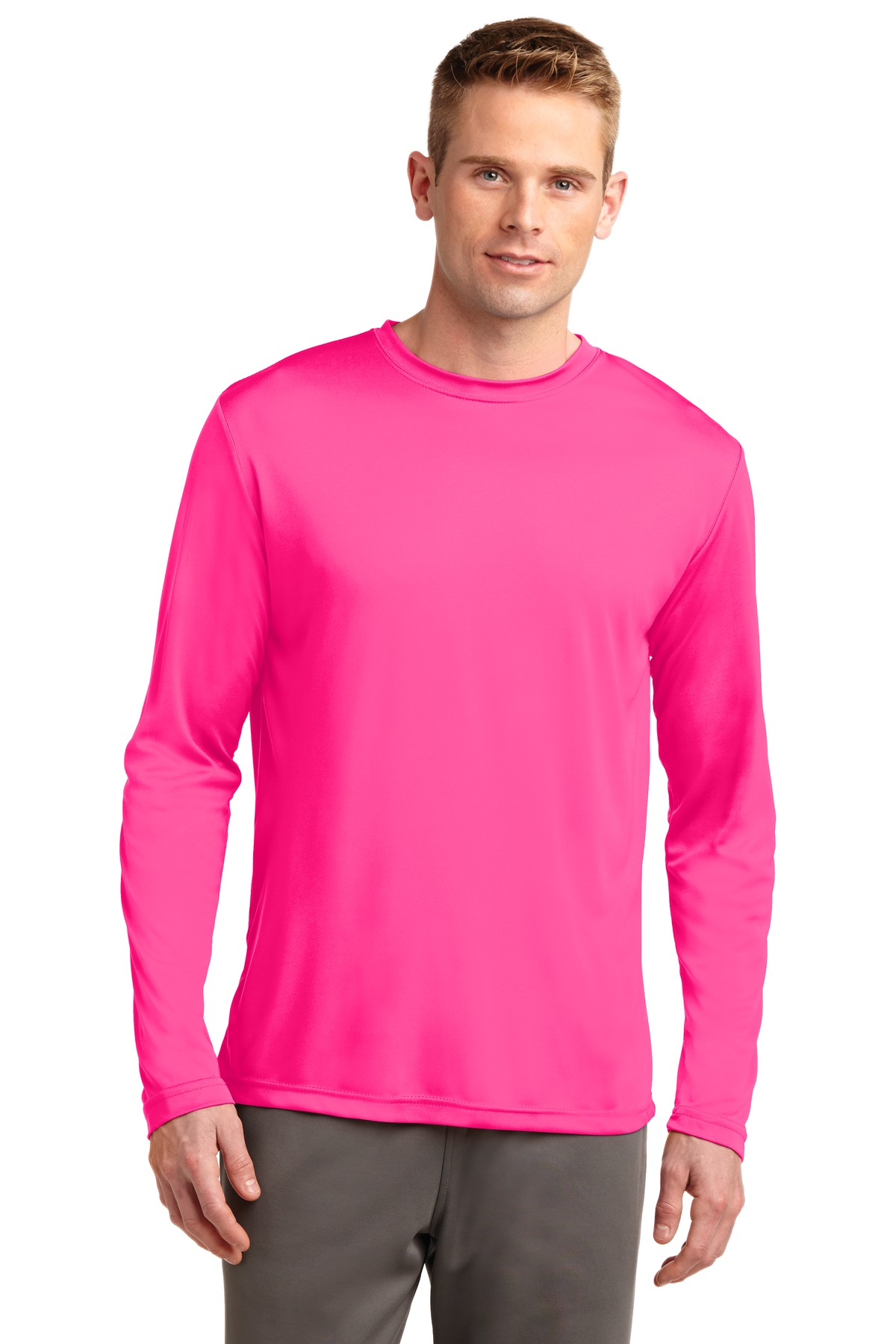Sport-Tek ®  Long Sleeve PosiCharge ®  Competitor™ Tee. ST350LS - Neon Pink