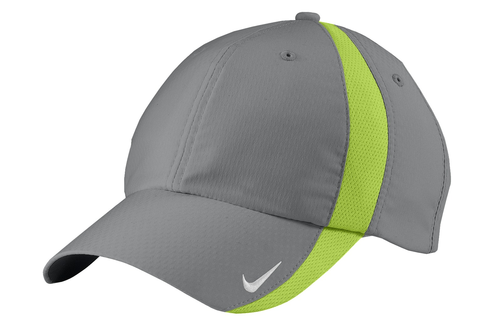 Nike Sphere Dry Cap.  247077 - Cool Grey/ Chartreuse