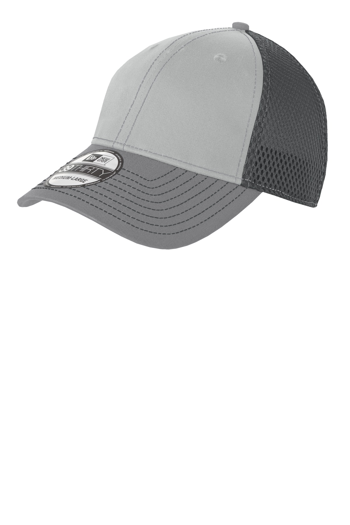 New Era ®  - Stretch Mesh Contrast Stitch Cap. NE1120 - Grey/ Steel/ Graphite