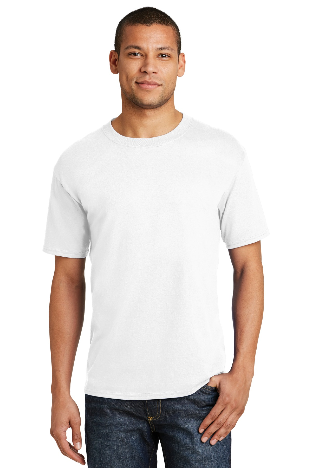 Hanes ®  Beefy-T ®  - 100% Cotton T-Shirt.  5180 - White