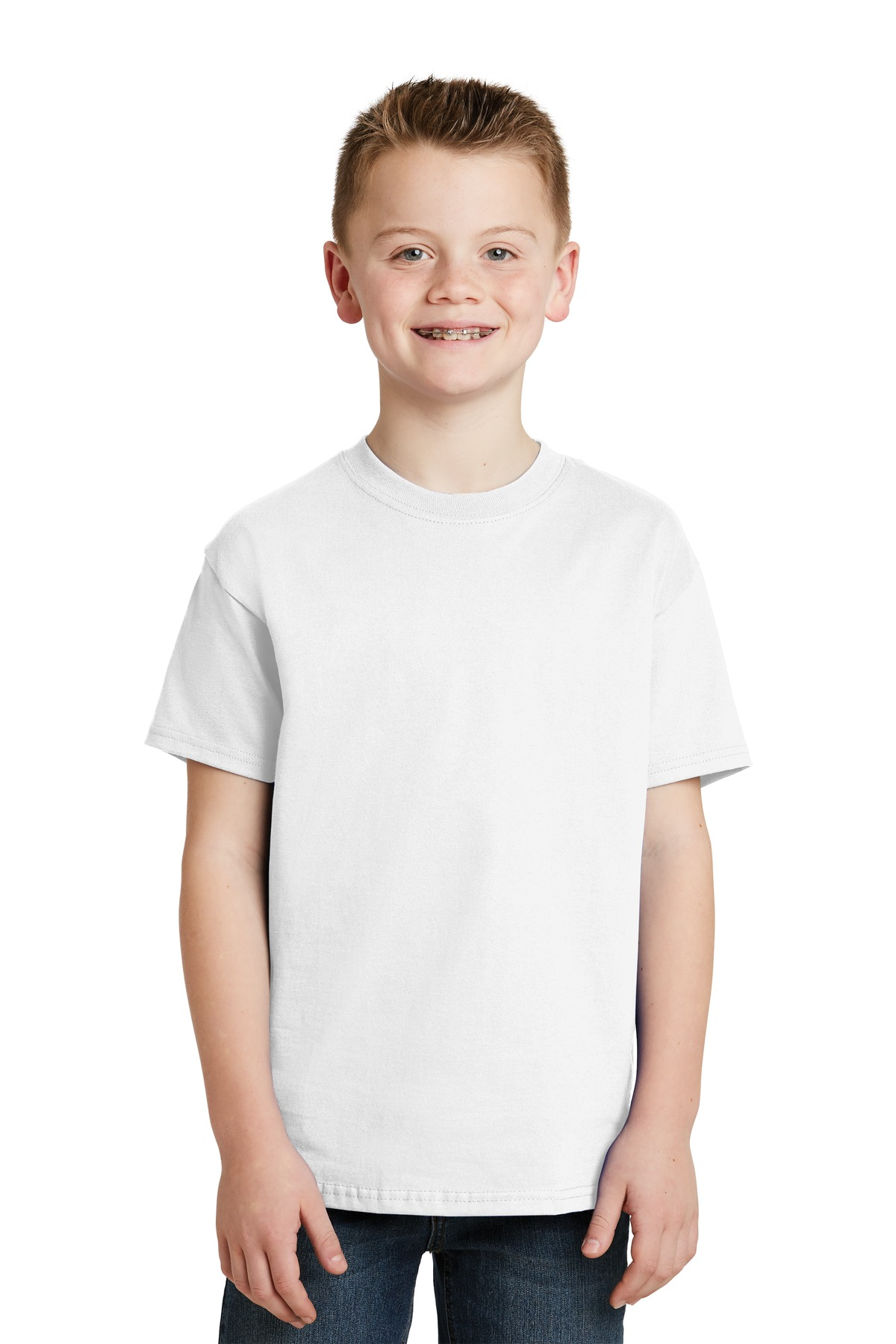 Hanes ®  - Youth Tagless ®  100%  Cotton T-Shirt.  5450 - White