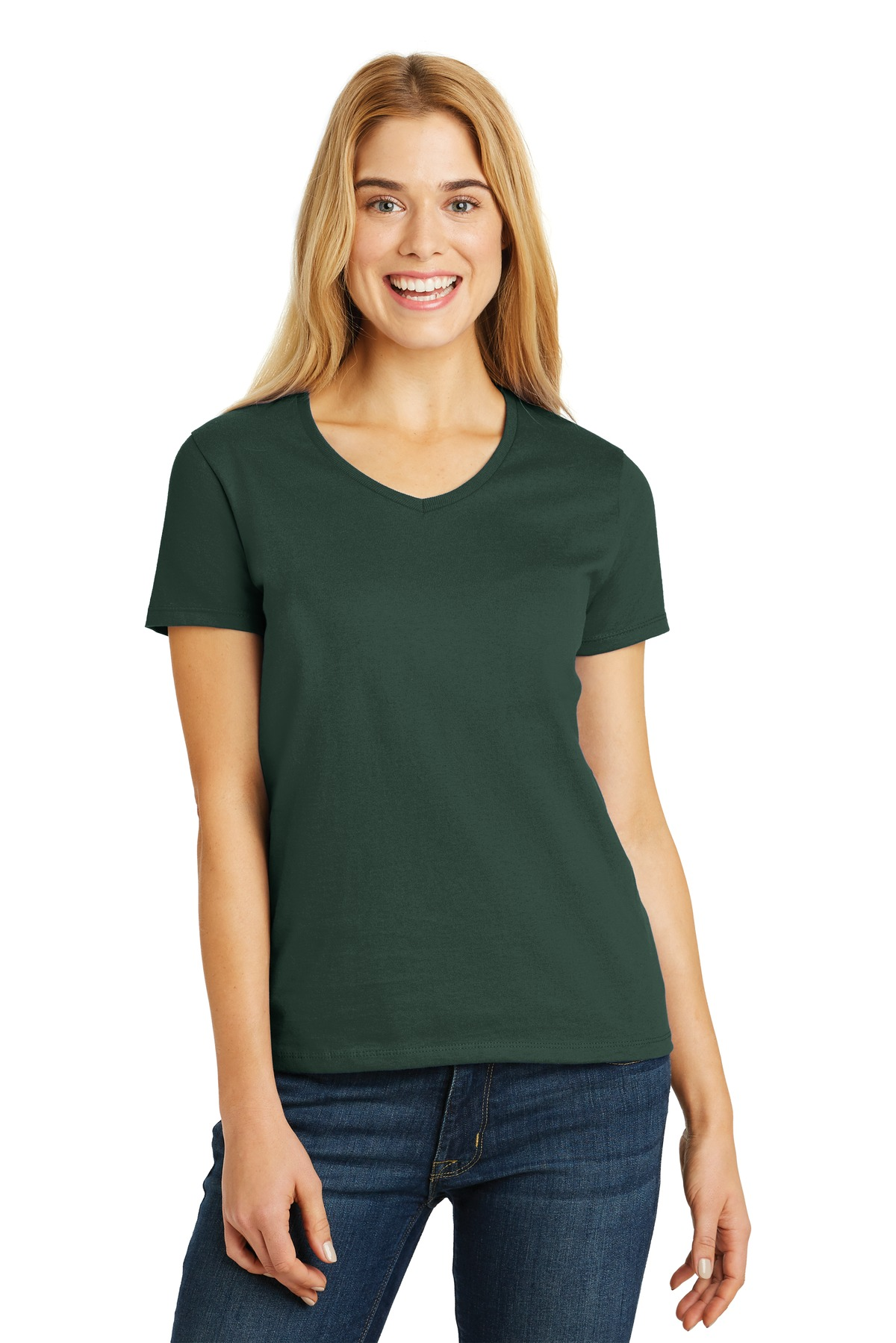 Hanes Ladies ComfortSoft V-Neck Tee. 5780