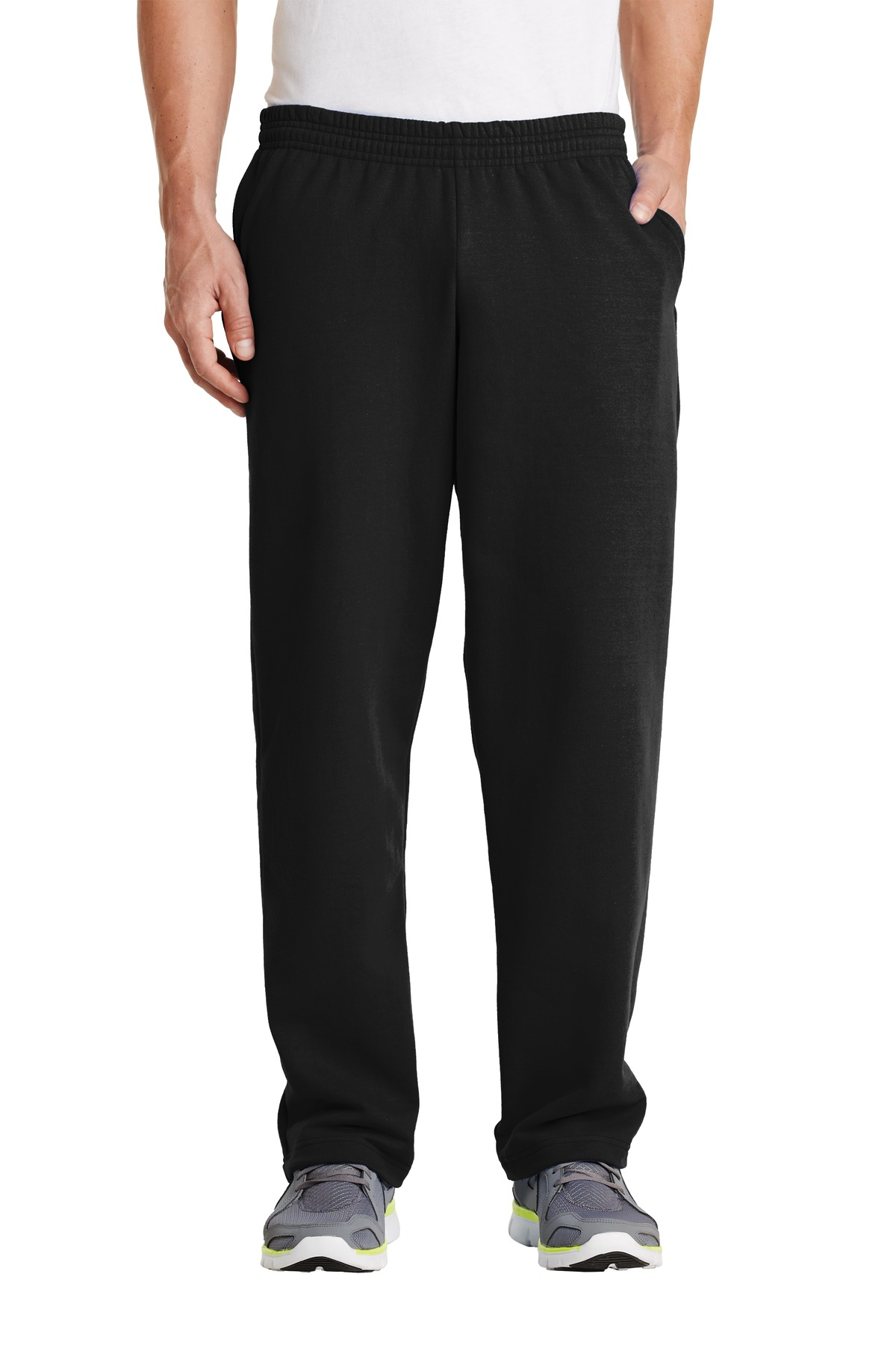Port & Company ®  - Core Fleece Sweatpant with Pockets. PC78P - Jet Black