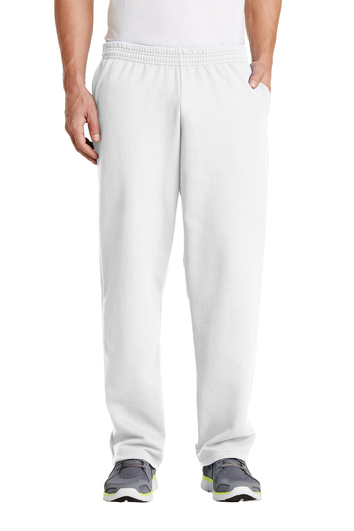 Port & Company ®  - Core Fleece Sweatpant with Pockets. PC78P - White