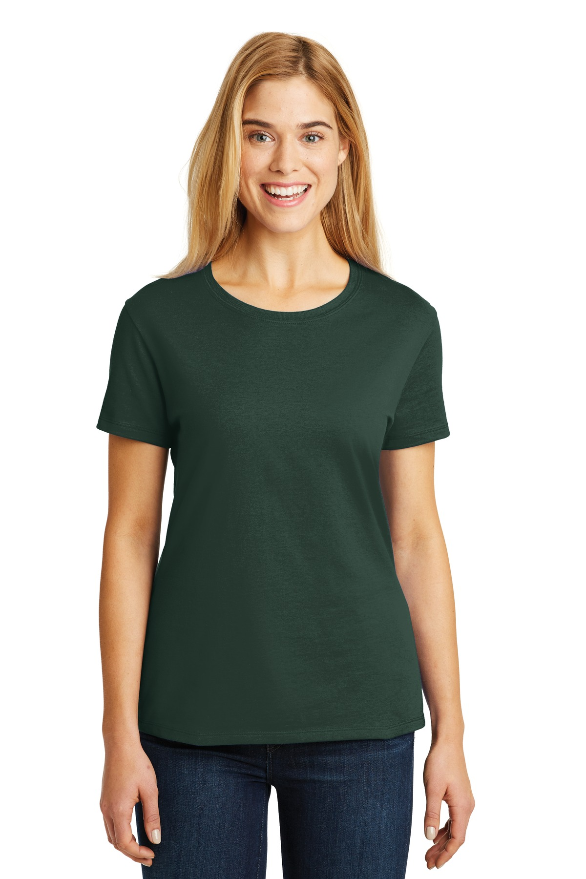 Hanes ®  - Ladies Nano-T ®  Cotton T-Shirt. SL04 - Deep Forest
