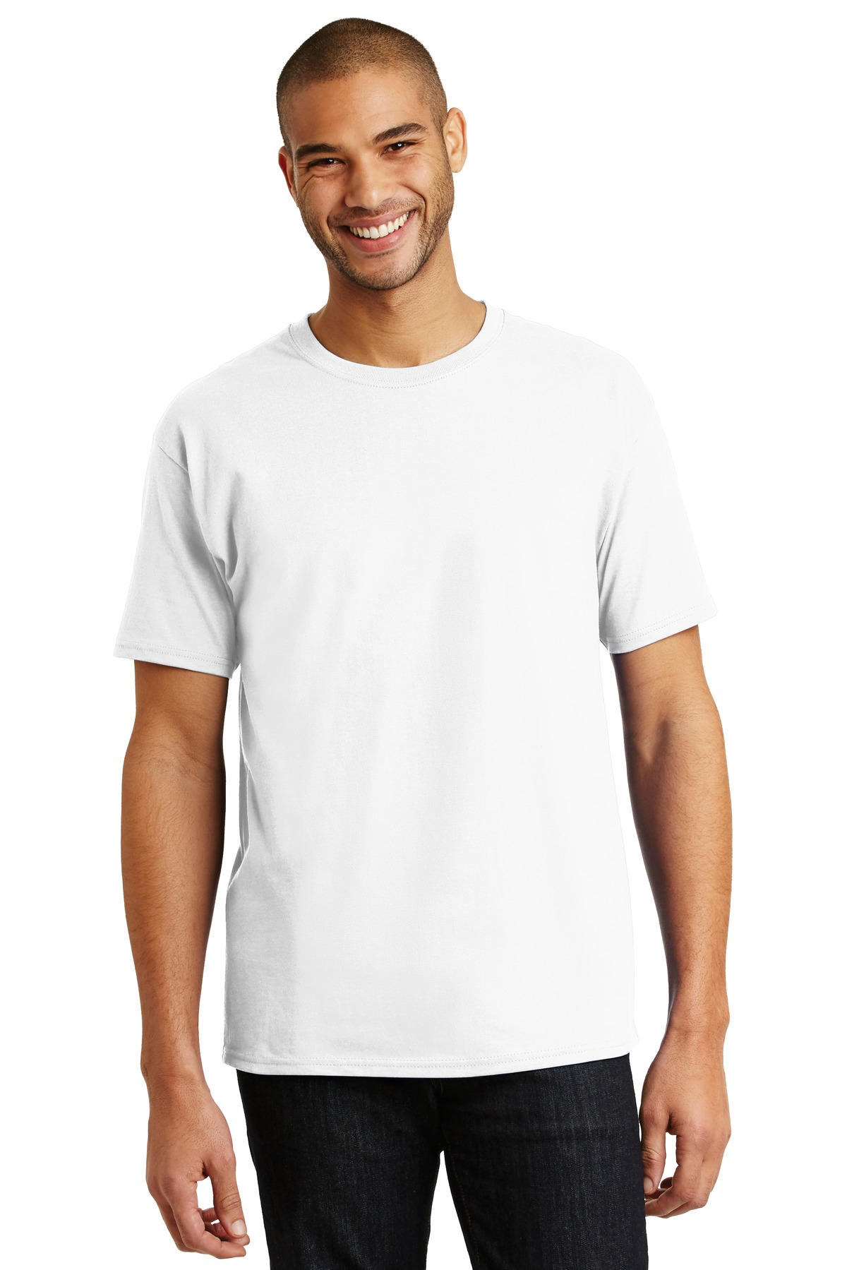 Hanes ®  - Tagless ®  100% Cotton T-Shirt.  5250 - White