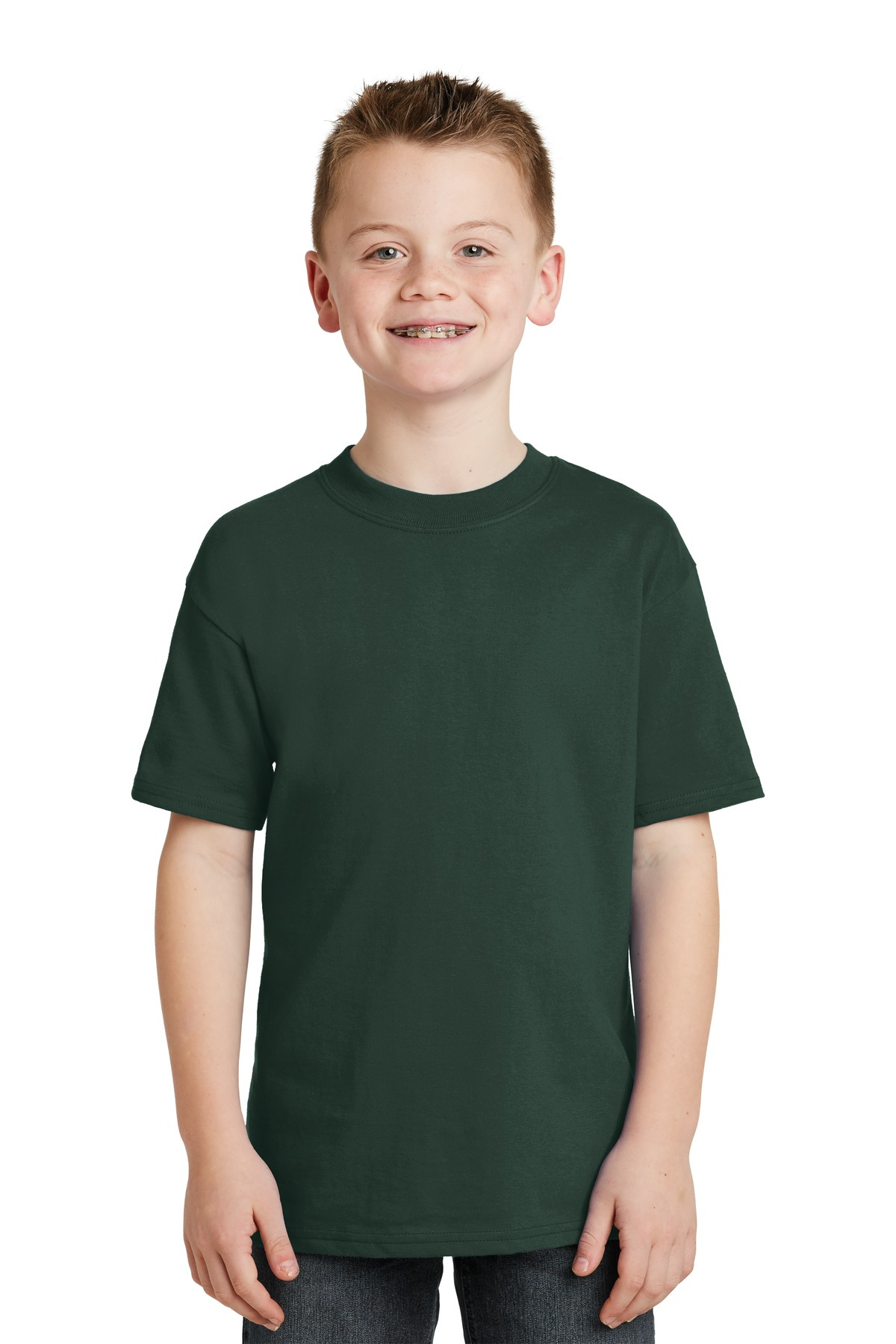 DISCONTINUED Hanes  -  Youth Beefy-T 100% Cotton T-Shirt.  5380