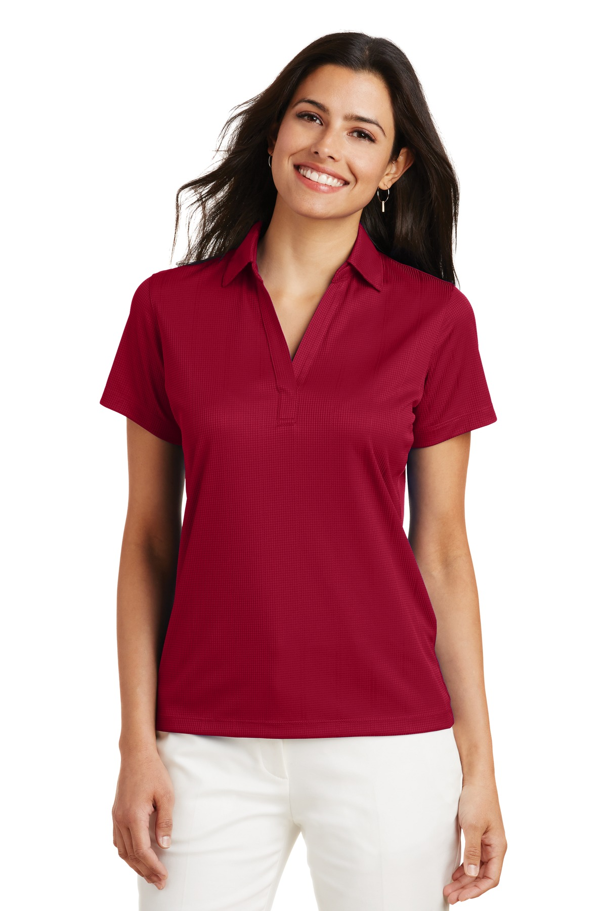 Port Authority ®  Ladies Performance Fine Jacquard Polo. L528 - Rich Red
