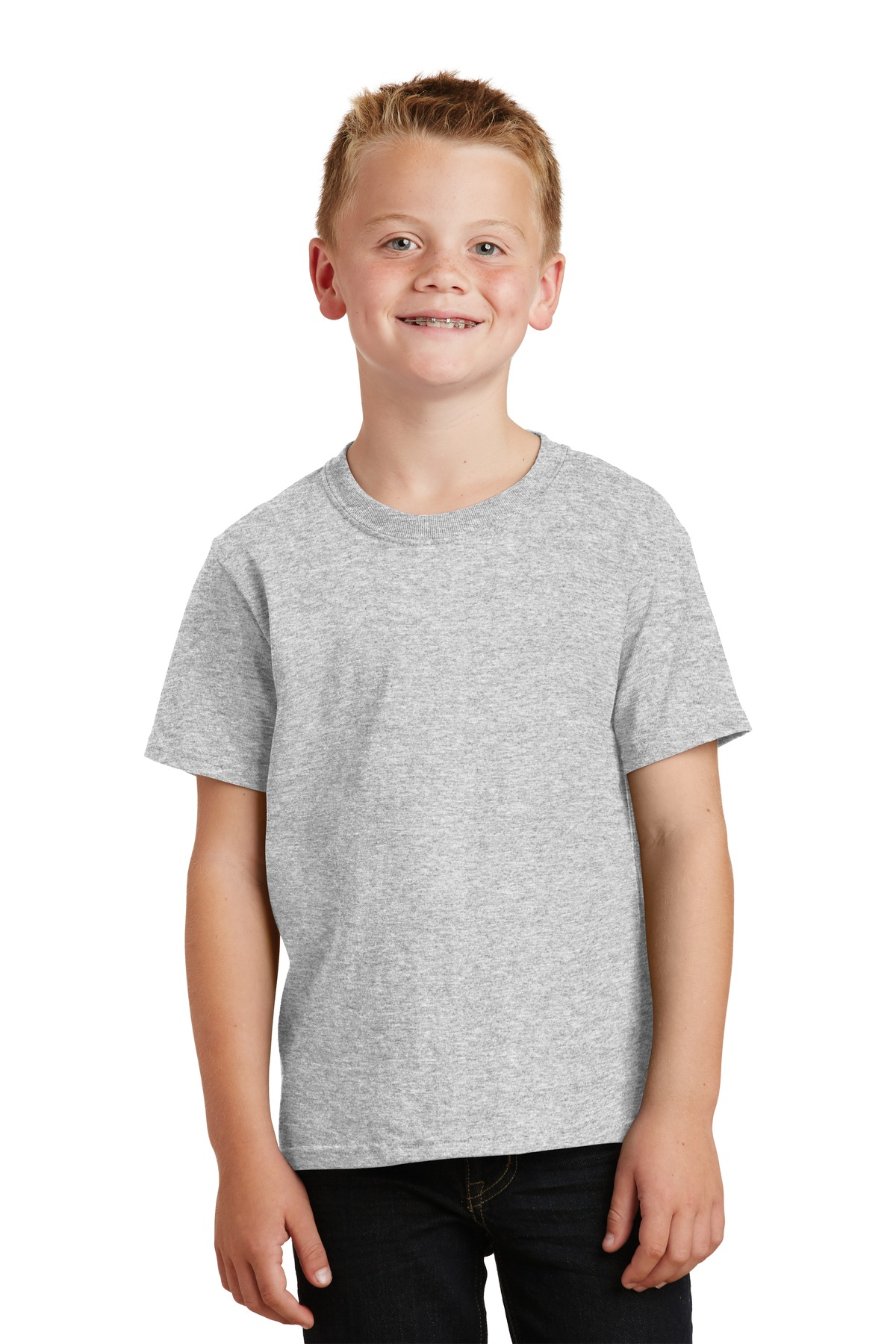 Port & Company ®  - Youth Core Cotton Tee. PC54Y - Ash*