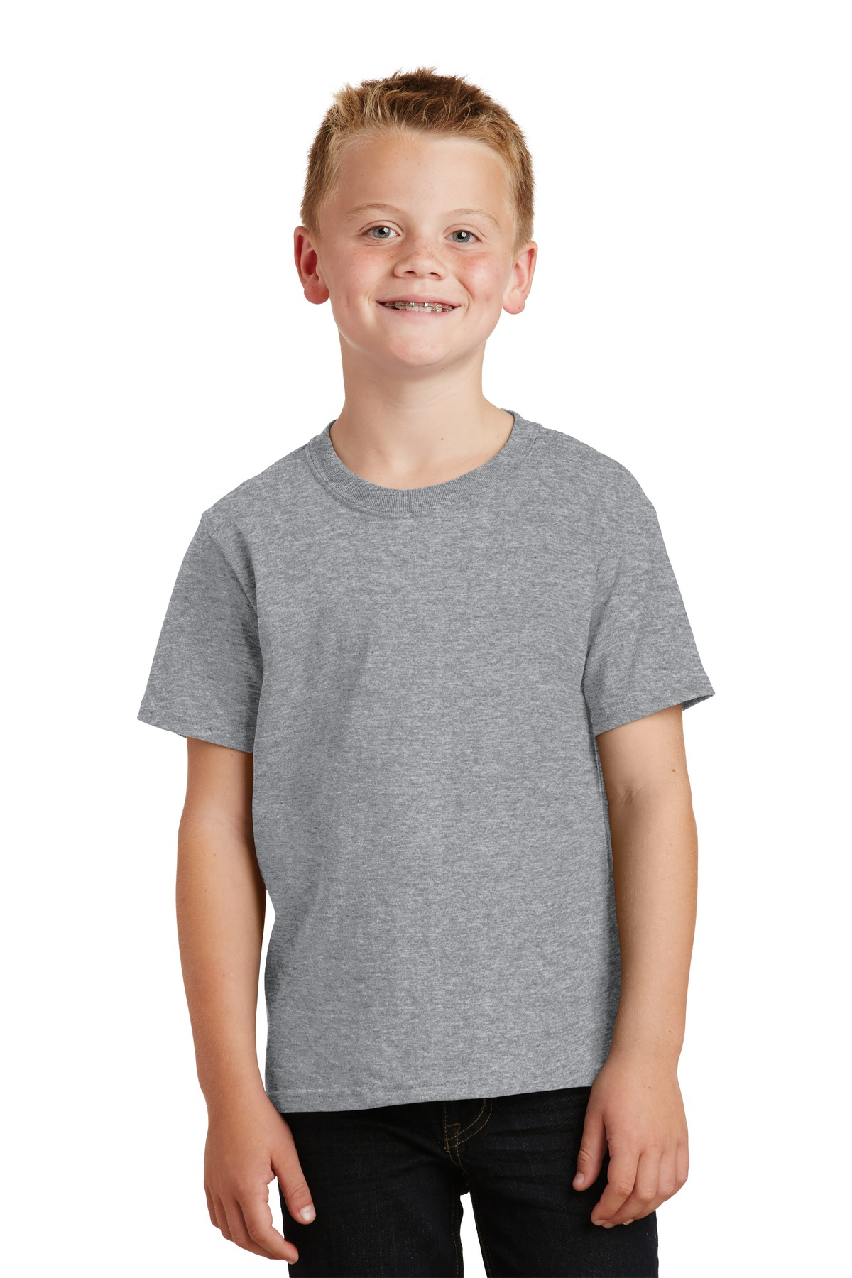 Port & Company ®  - Youth Core Cotton Tee. PC54Y - Athletic Heather*