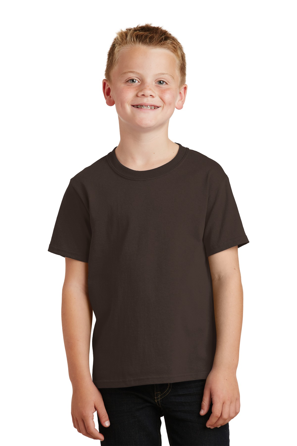 Port & Company ®  - Youth Core Cotton Tee. PC54Y - Dark Chocolate Brown