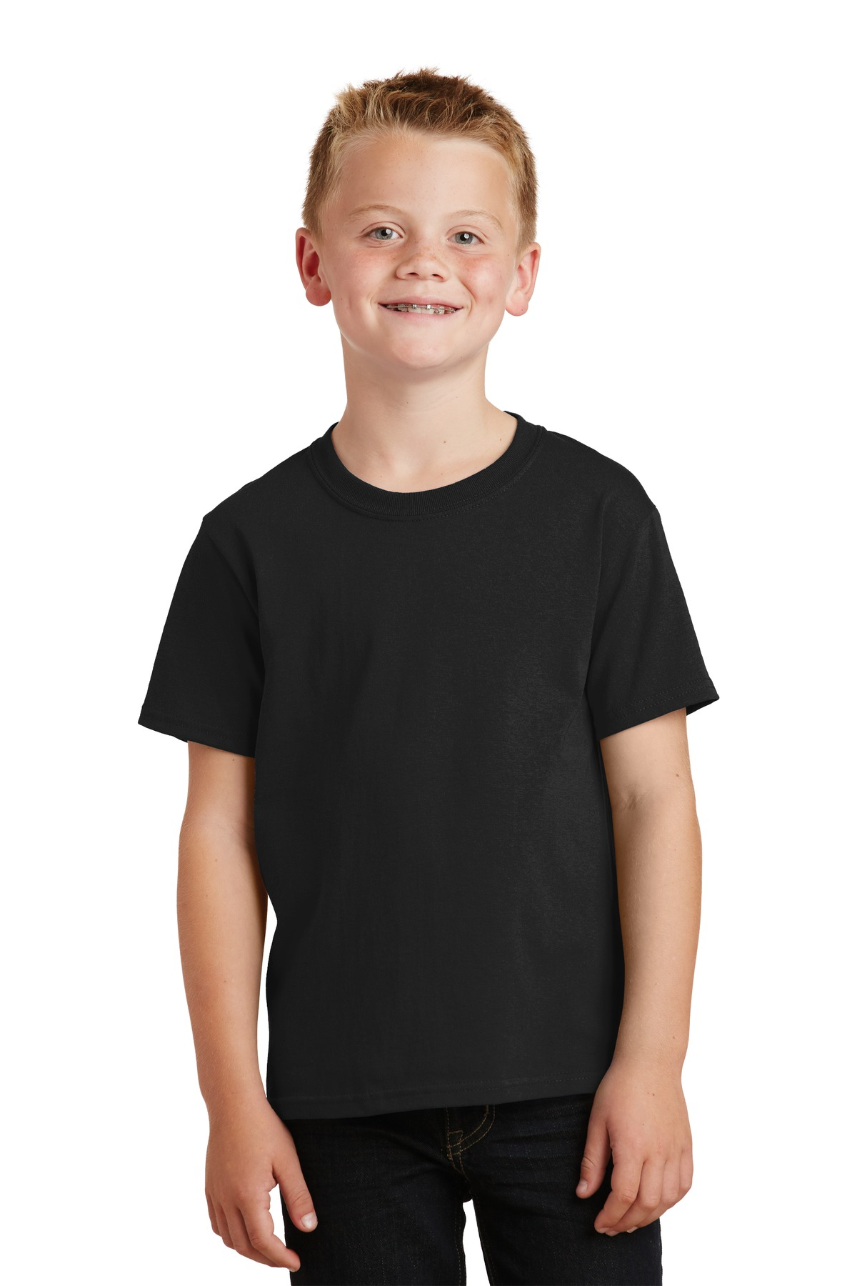 Port & Company ®  - Youth Core Cotton Tee. PC54Y - Jet Black