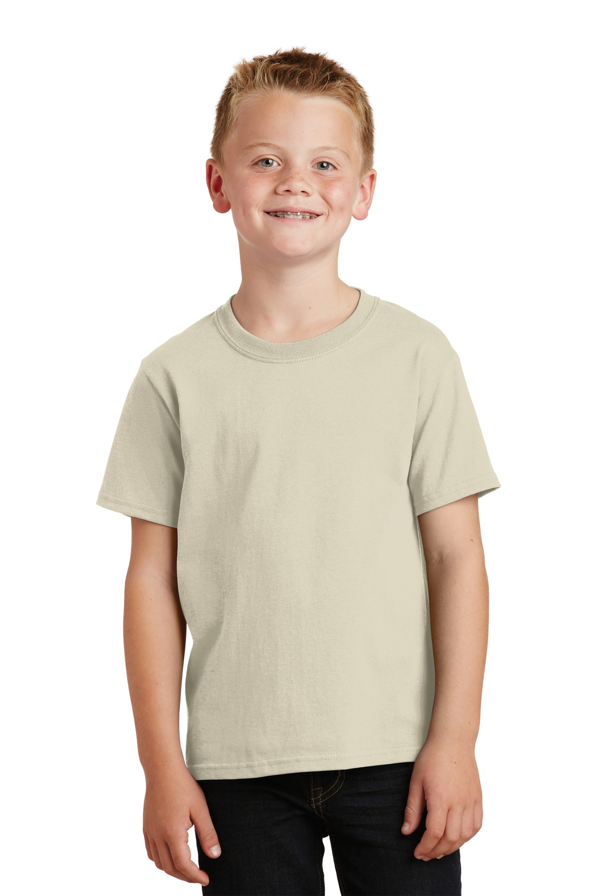 Port & Company ®  - Youth Core Cotton Tee. PC54Y - Natural