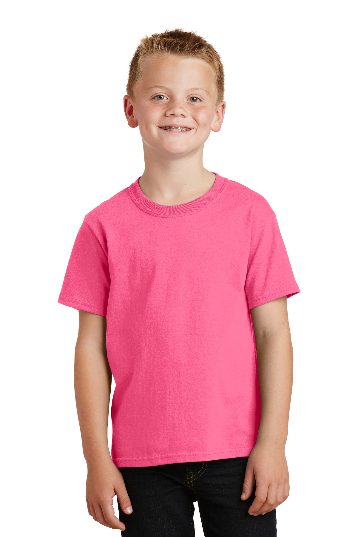 Port & Company ®  - Youth Core Cotton Tee. PC54Y - Neon Pink*
