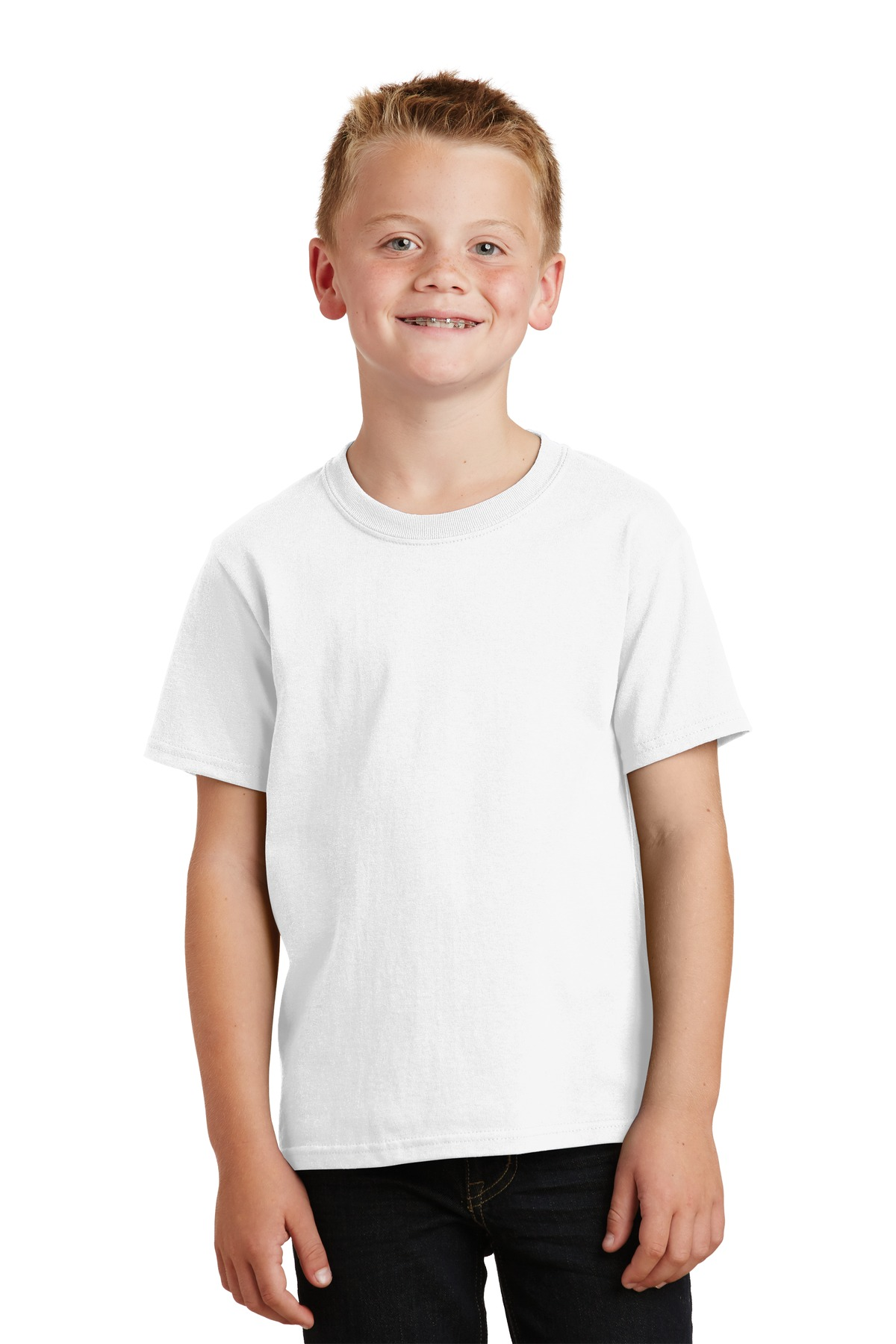 Port & Company ®  - Youth Core Cotton Tee. PC54Y - White