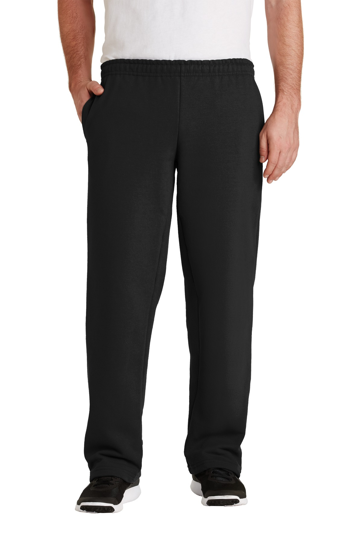 Gildan ®  - DryBlend ®  Open Bottom Sweatpant. 12300 - Black