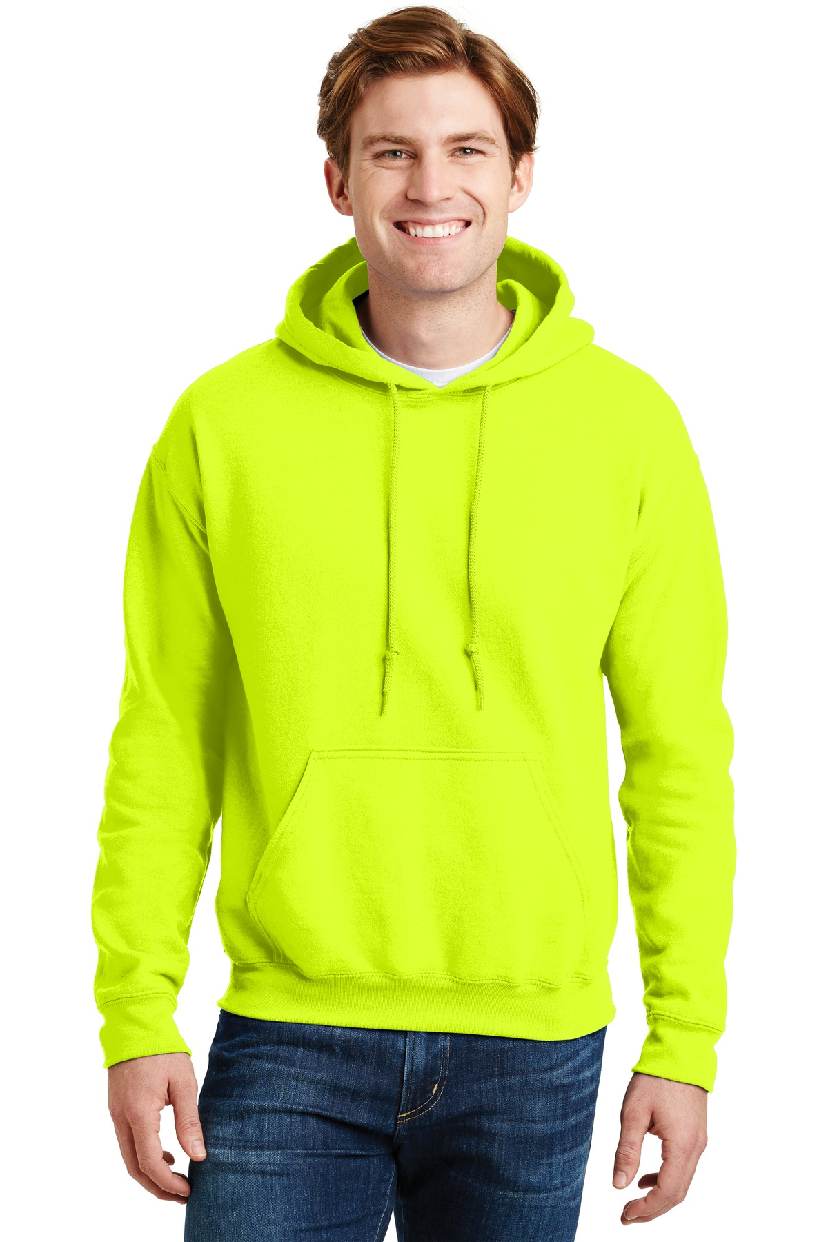 Gildan ®  - DryBlend ®  Pullover Hooded Sweatshirt.  12500 - Safety Green