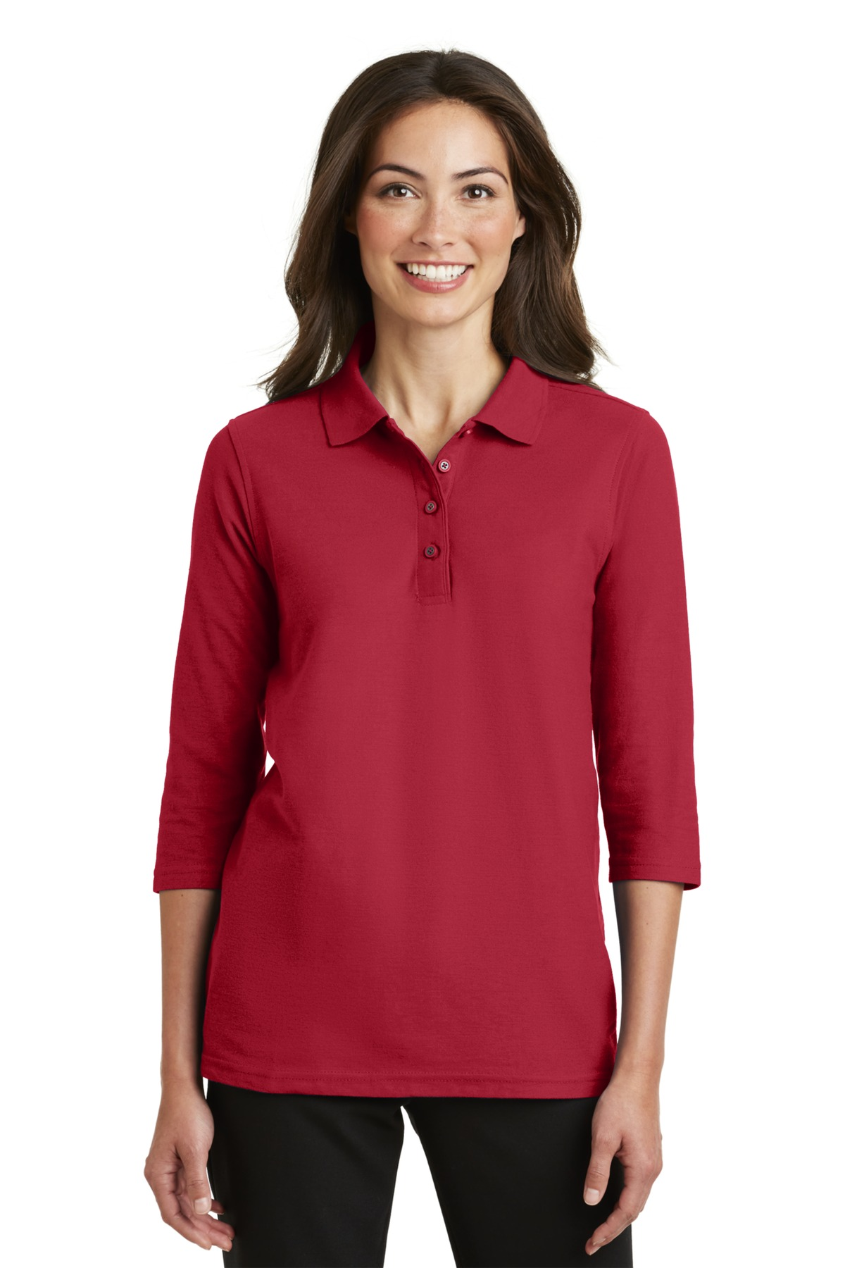 Port Authority ®  Ladies Silk Touch™ 3/4-Sleeve Polo. L562 - Red