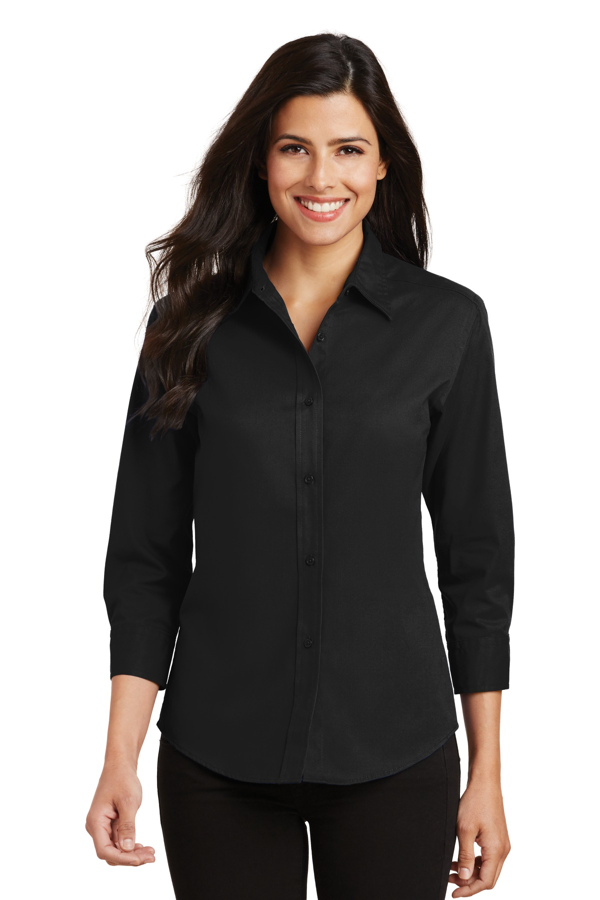 Port Authority ®  Ladies 3/4-Sleeve Easy Care Shirt. L612 - Black