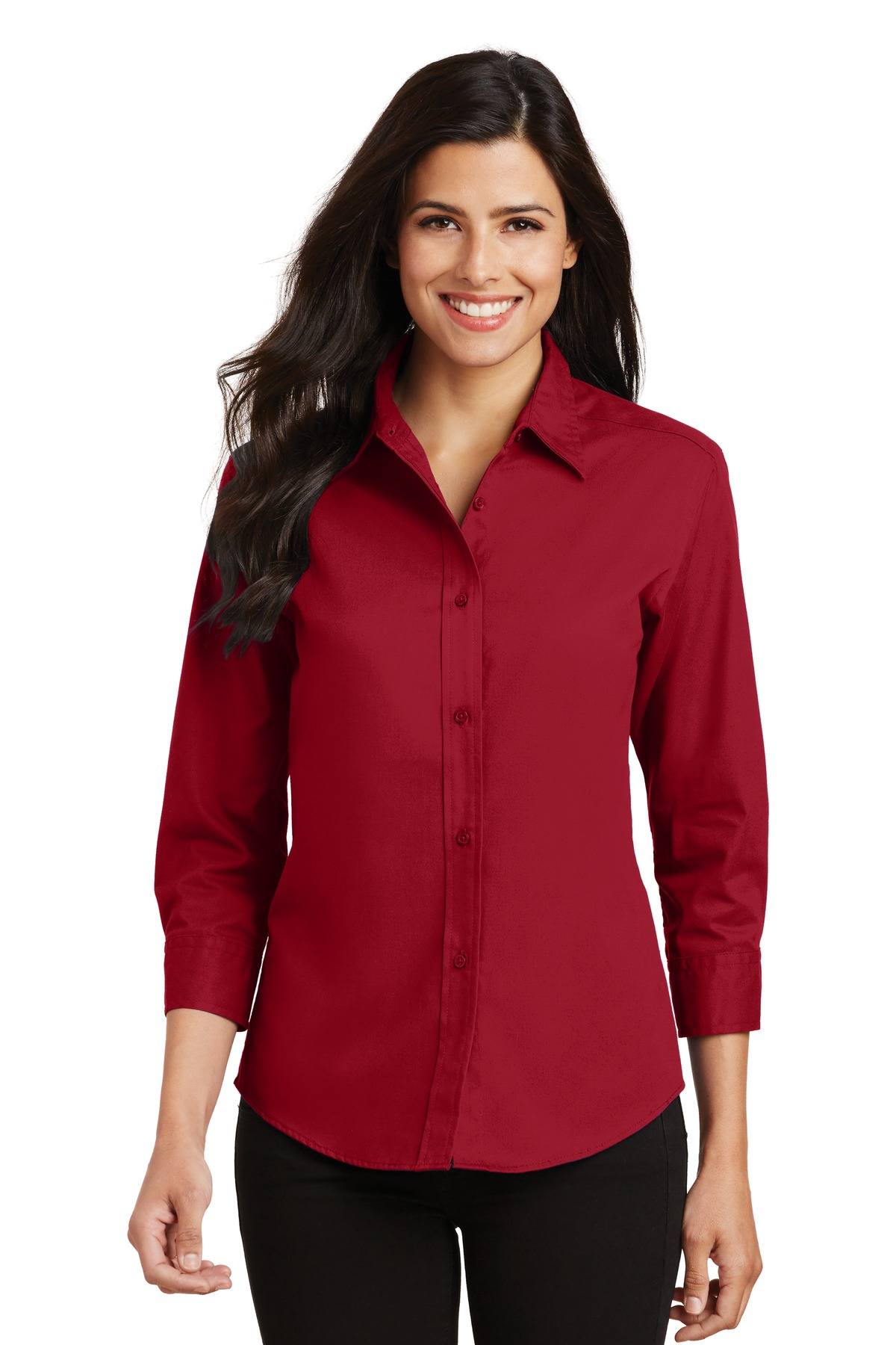 Port Authority ®  Ladies 3/4-Sleeve Easy Care Shirt. L612 - Red