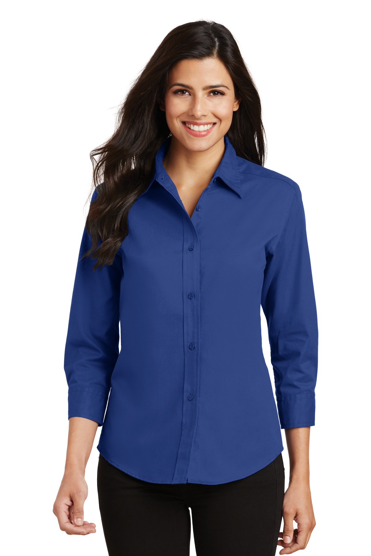 Port Authority ®  Ladies 3/4-Sleeve Easy Care Shirt. L612 - Royal