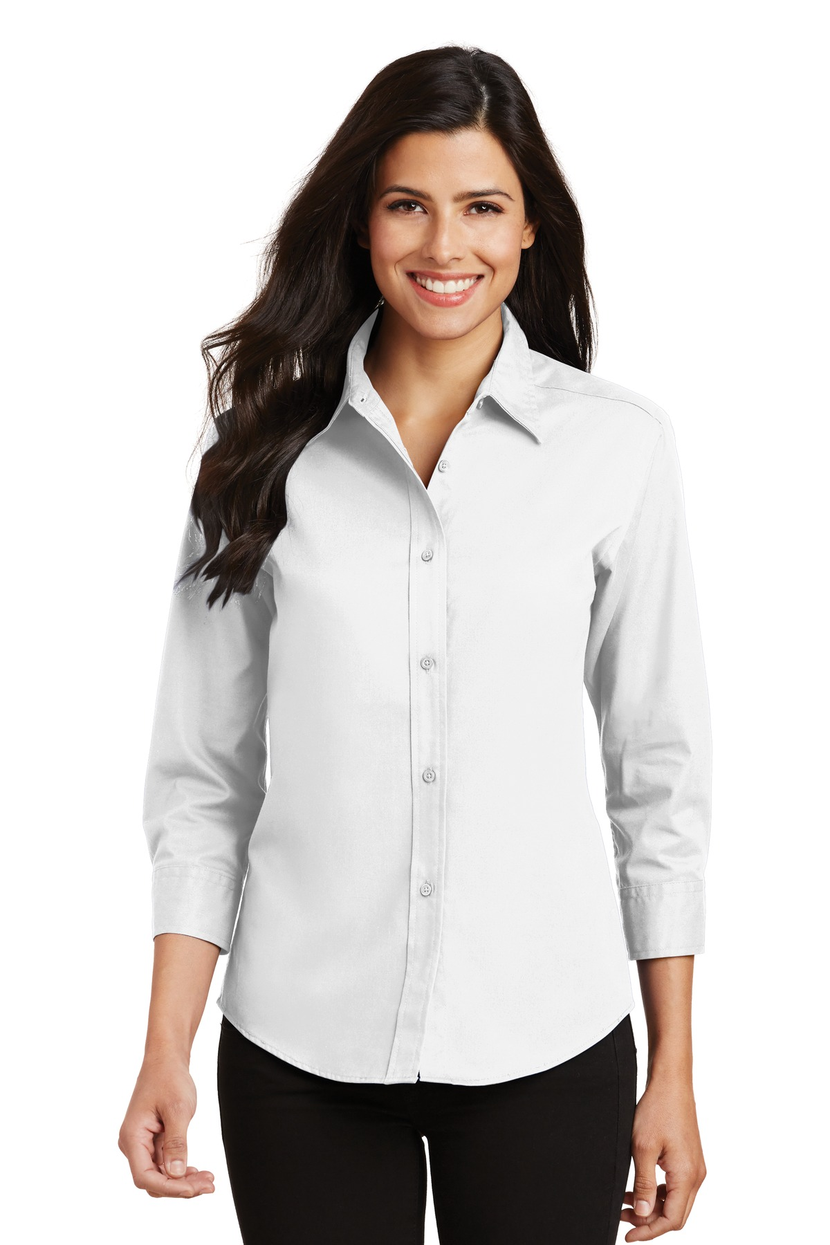 Port Authority ®  Ladies 3/4-Sleeve Easy Care Shirt. L612 - White