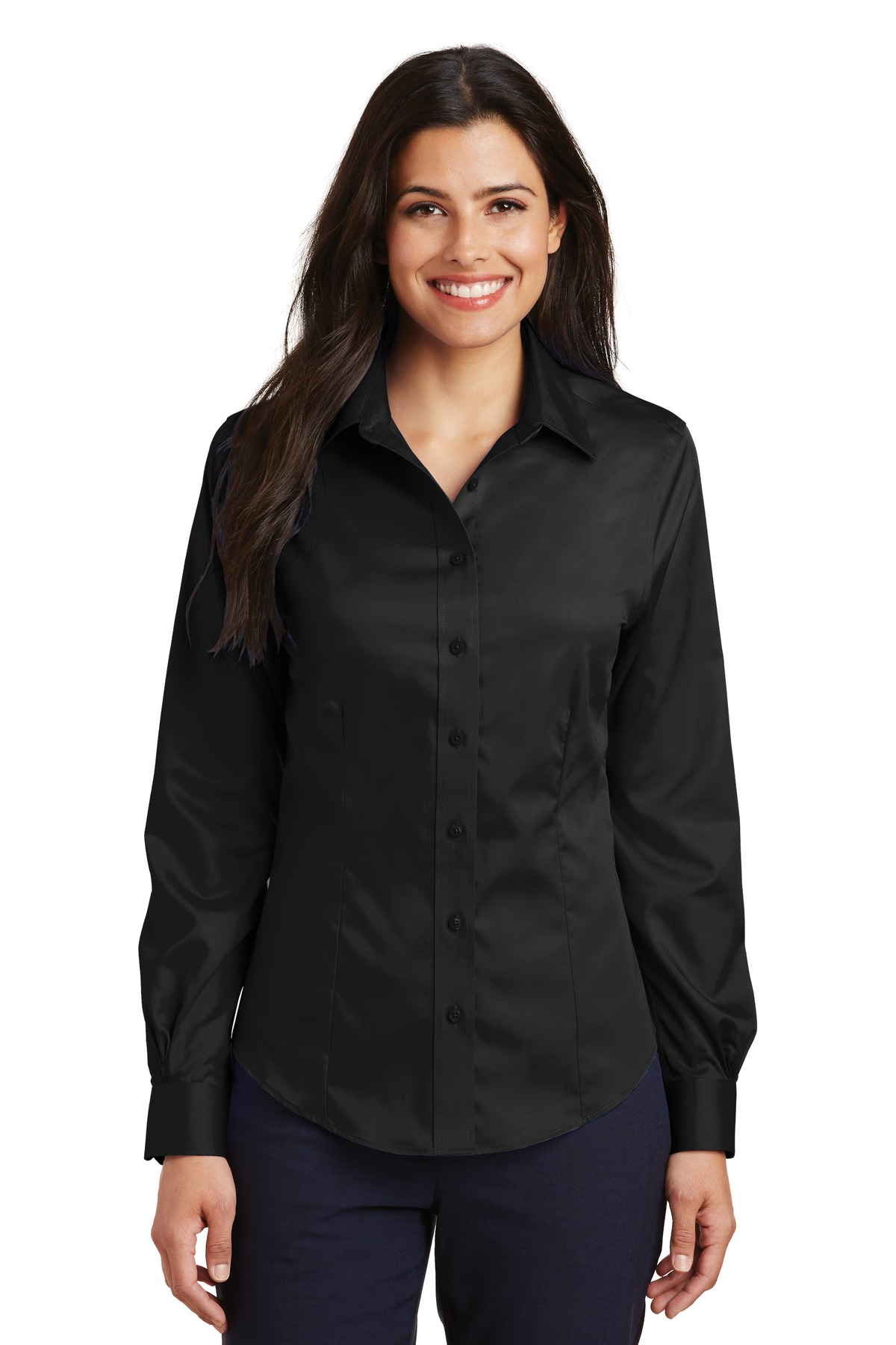 Port Authority ®  Ladies Non-Iron Twill Shirt.  L638 - Black