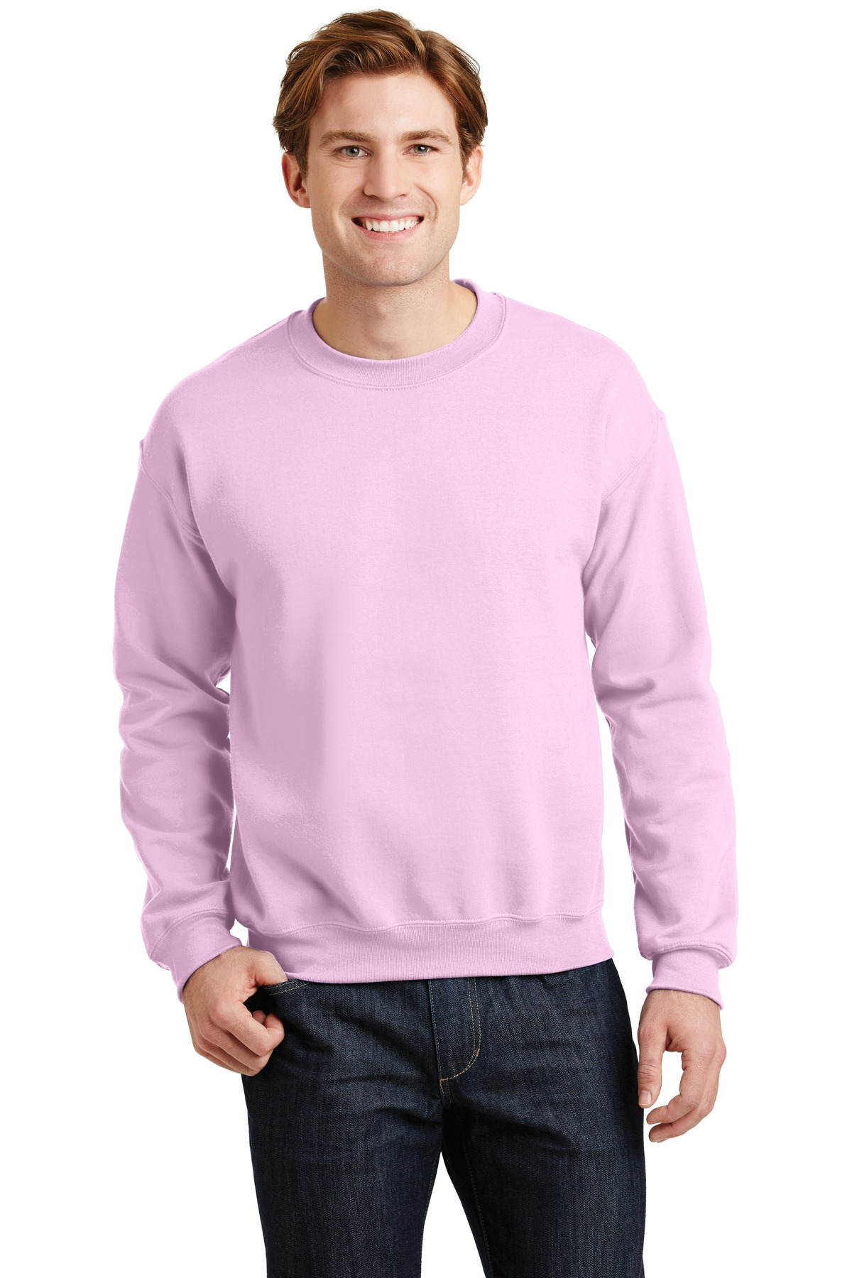 Gildan ®  - Heavy Blend™ Crewneck Sweatshirt.  18000 - Light Pink