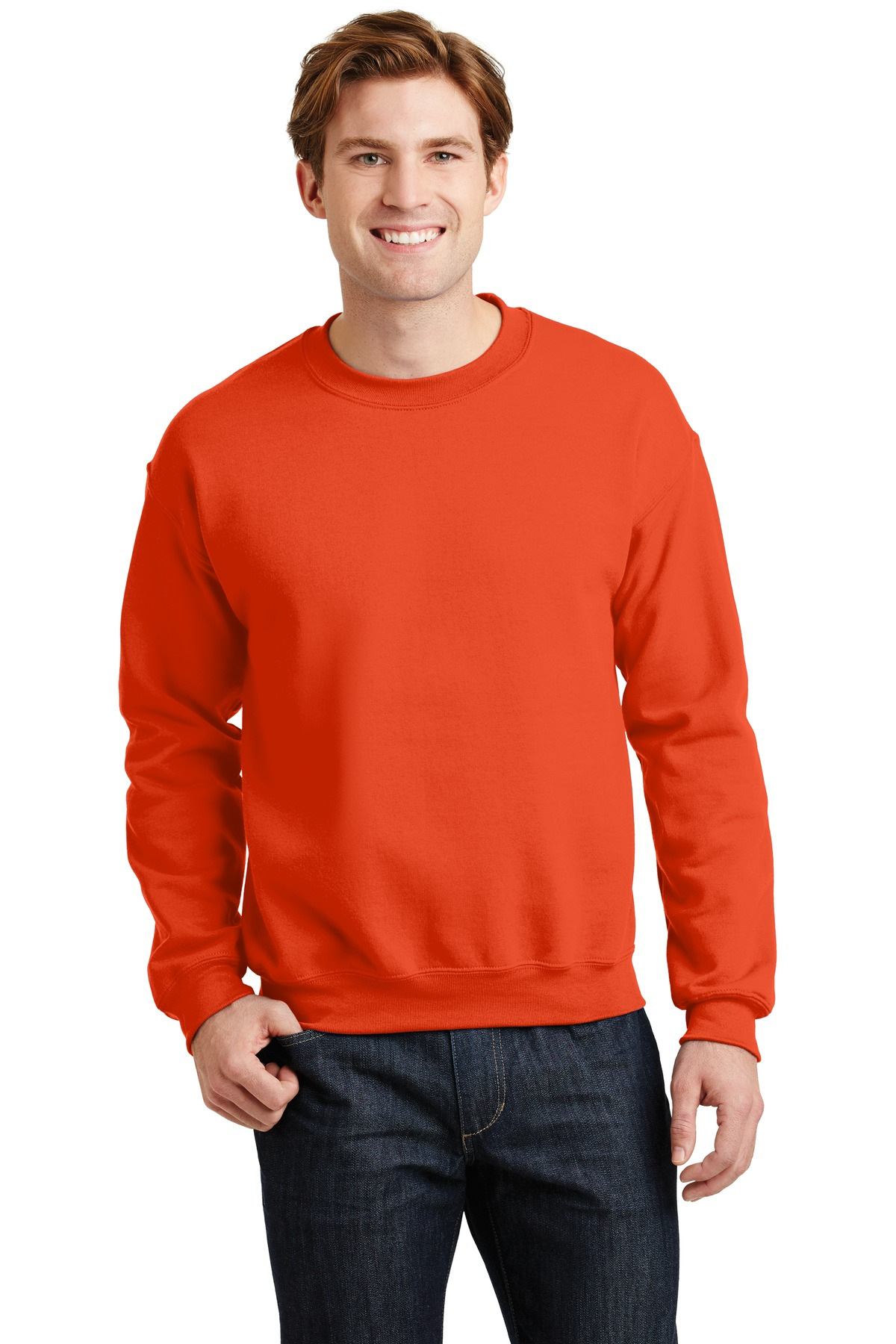 Gildan ®  - Heavy Blend™ Crewneck Sweatshirt.  18000 - Orange