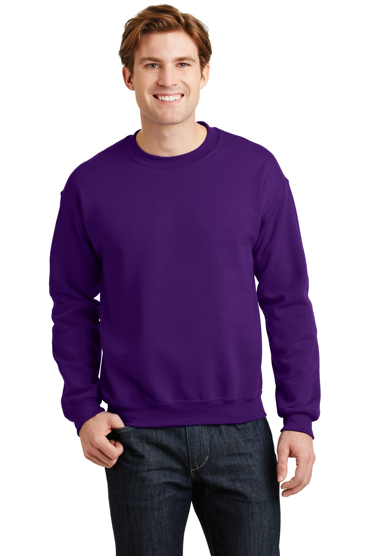 Gildan ®  - Heavy Blend™ Crewneck Sweatshirt.  18000 - Purple