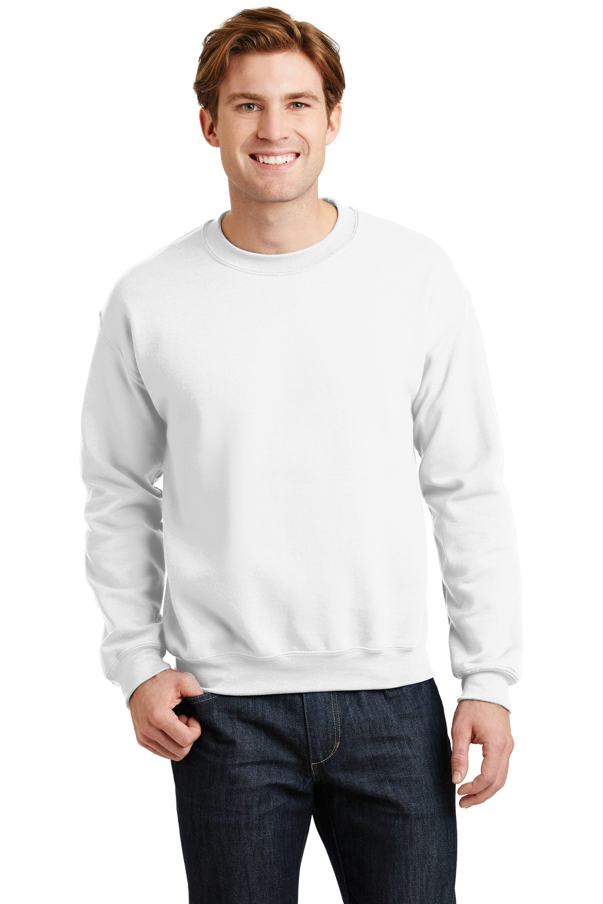 Gildan ®  - Heavy Blend™ Crewneck Sweatshirt.  18000 - White