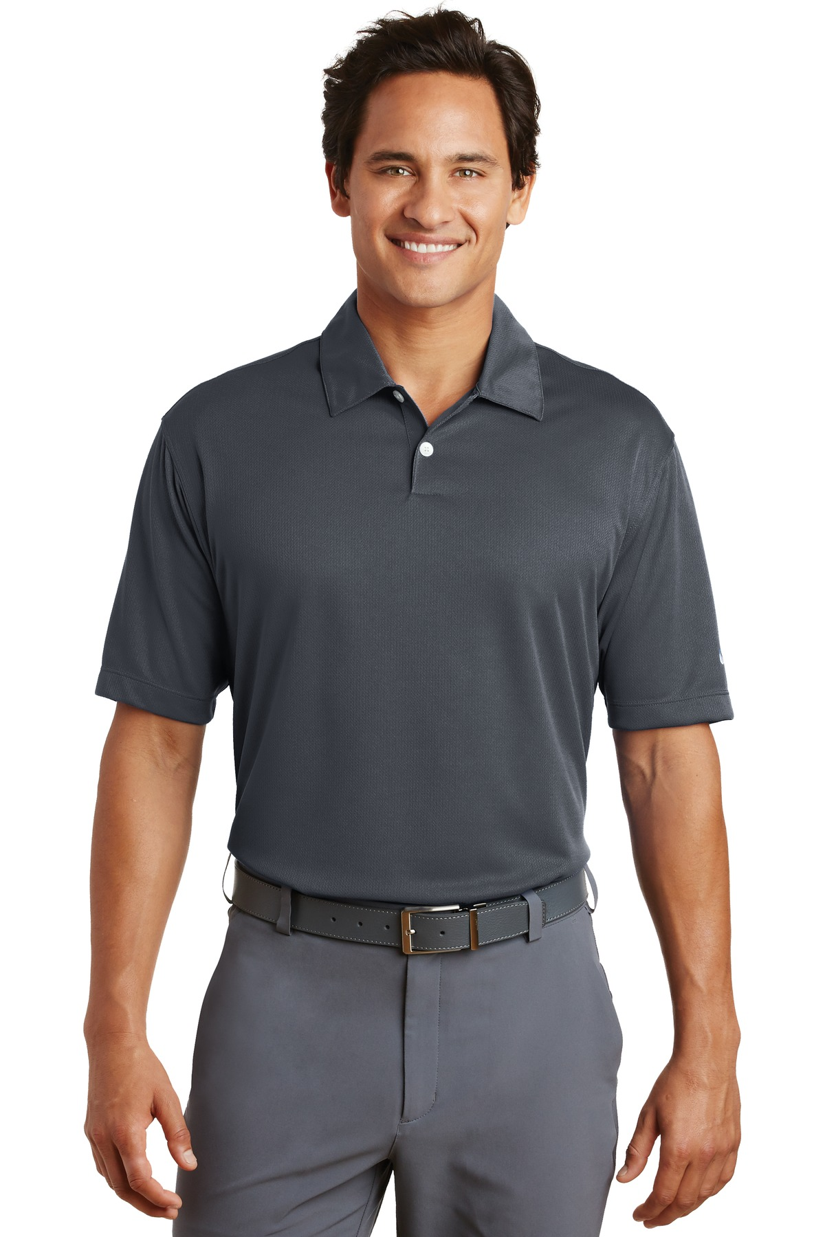 Nike Dri-FIT Pebble Texture Polo. 373749 - Dark Grey