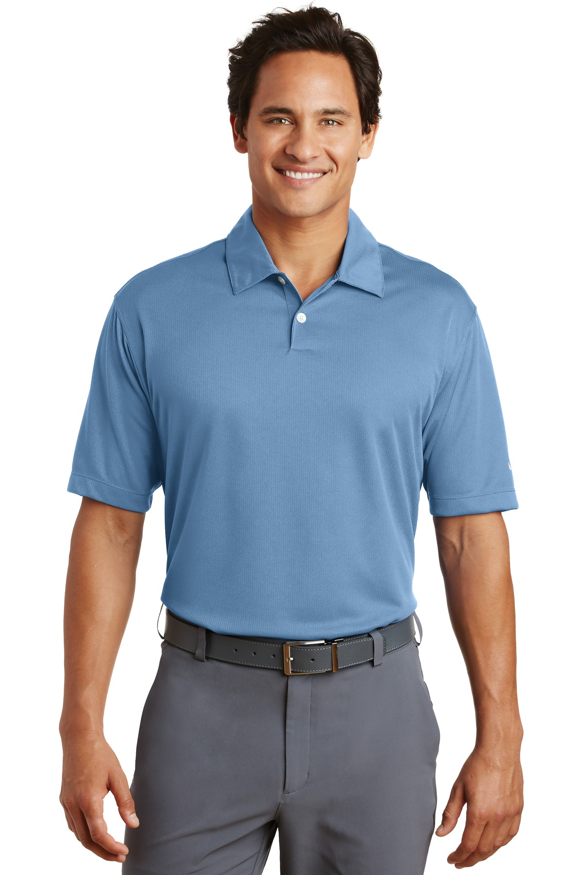 Nike Dri-FIT Pebble Texture Polo. 373749 - Fair Blue