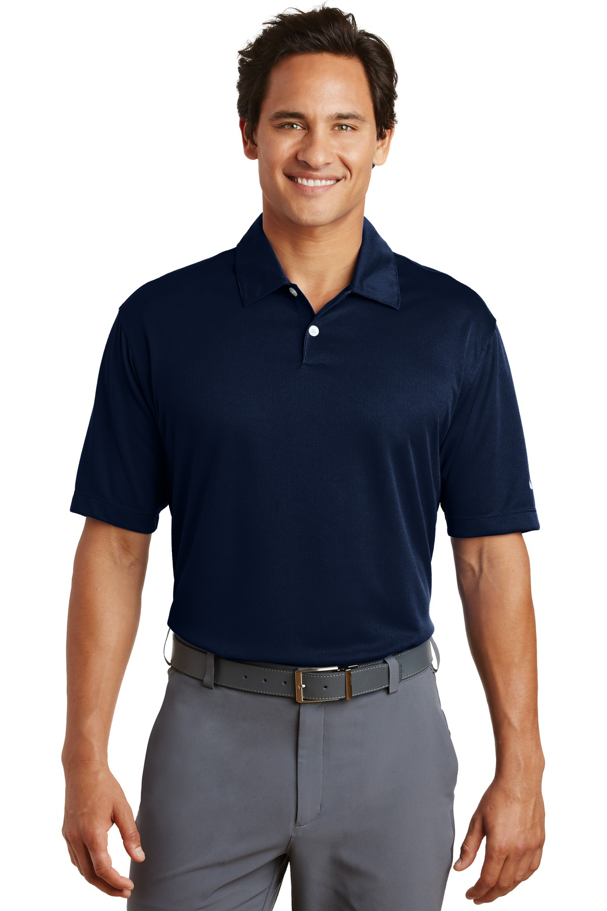 Nike Dri-FIT Pebble Texture Polo. 373749 - Midnight Navy
