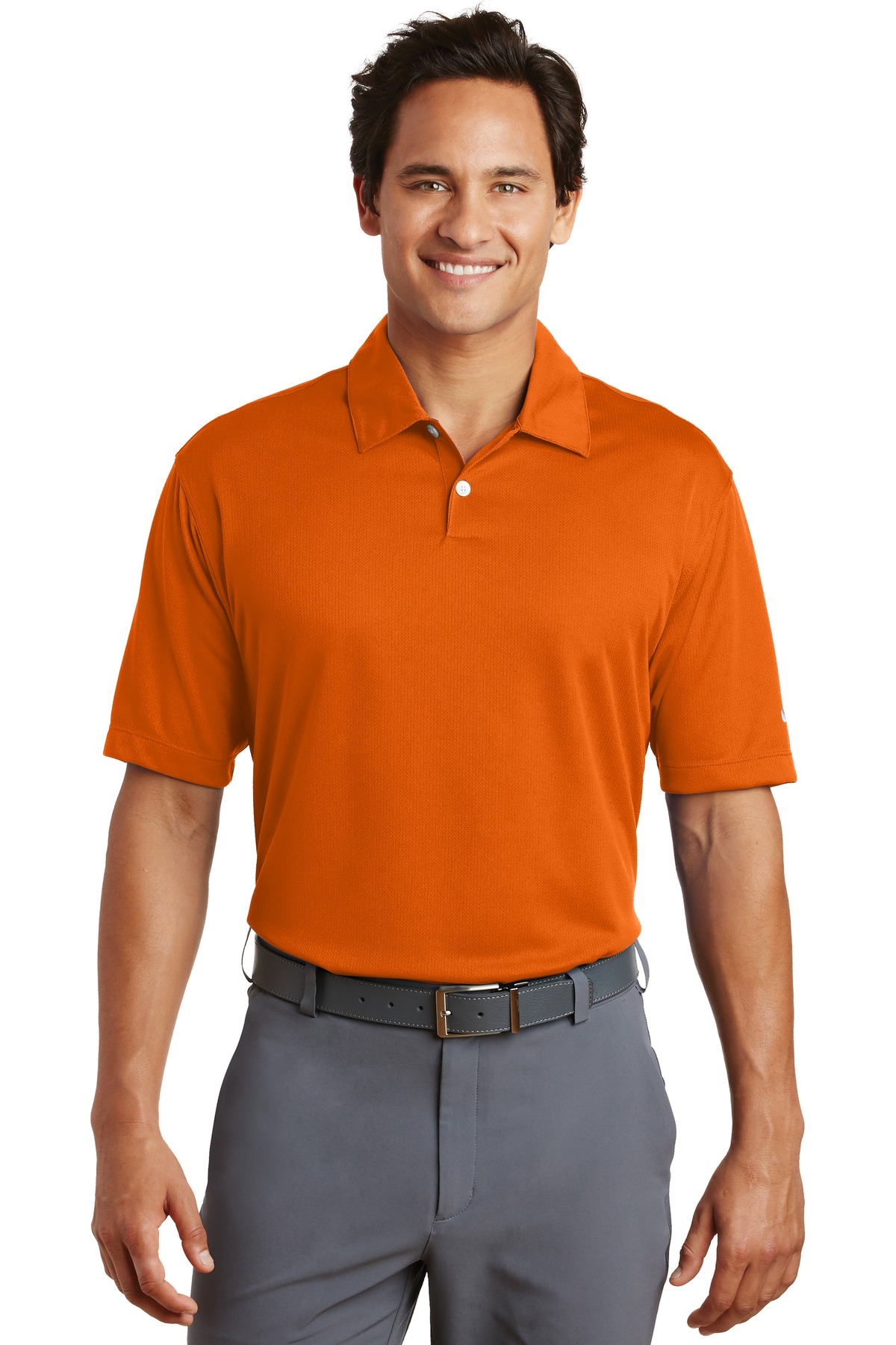 Nike Dri-FIT Pebble Texture Polo. 373749 - Orange