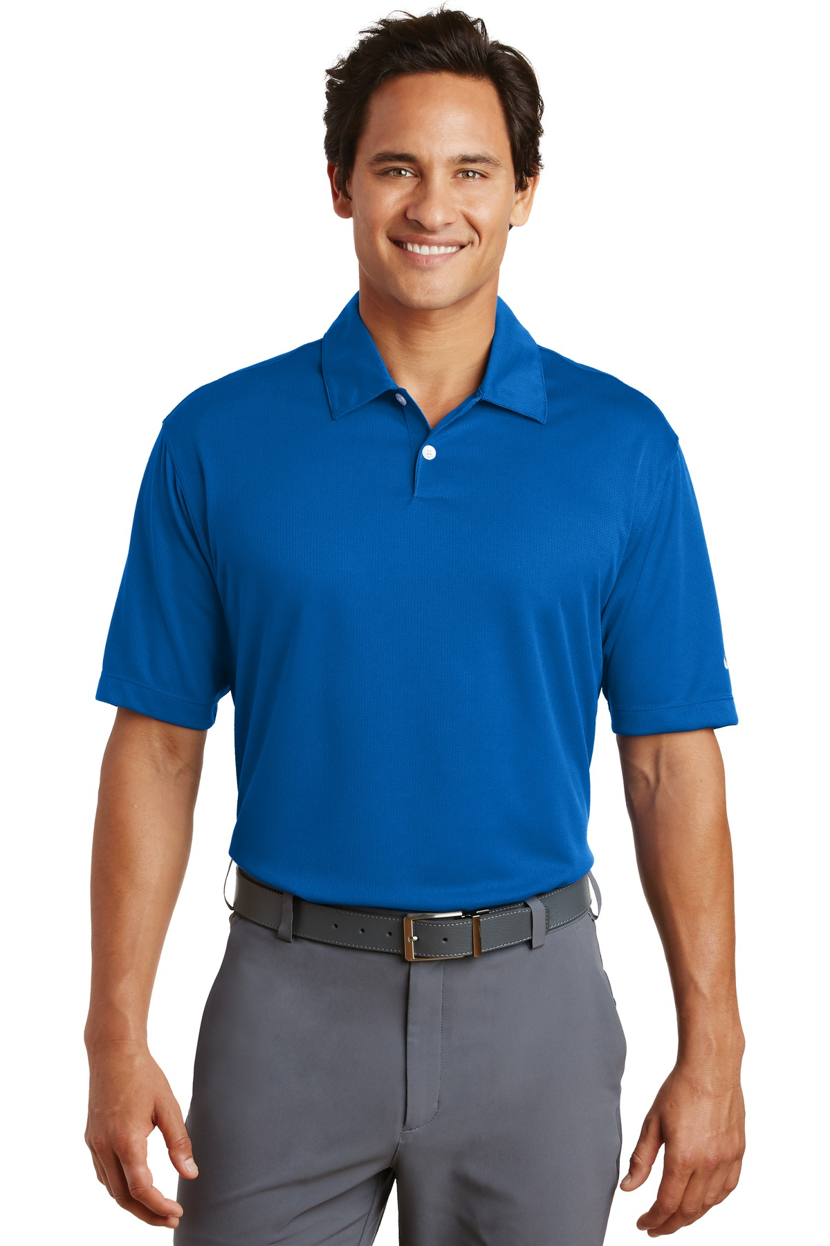 Nike Dri-FIT Pebble Texture Polo. 373749 - Photo Blue
